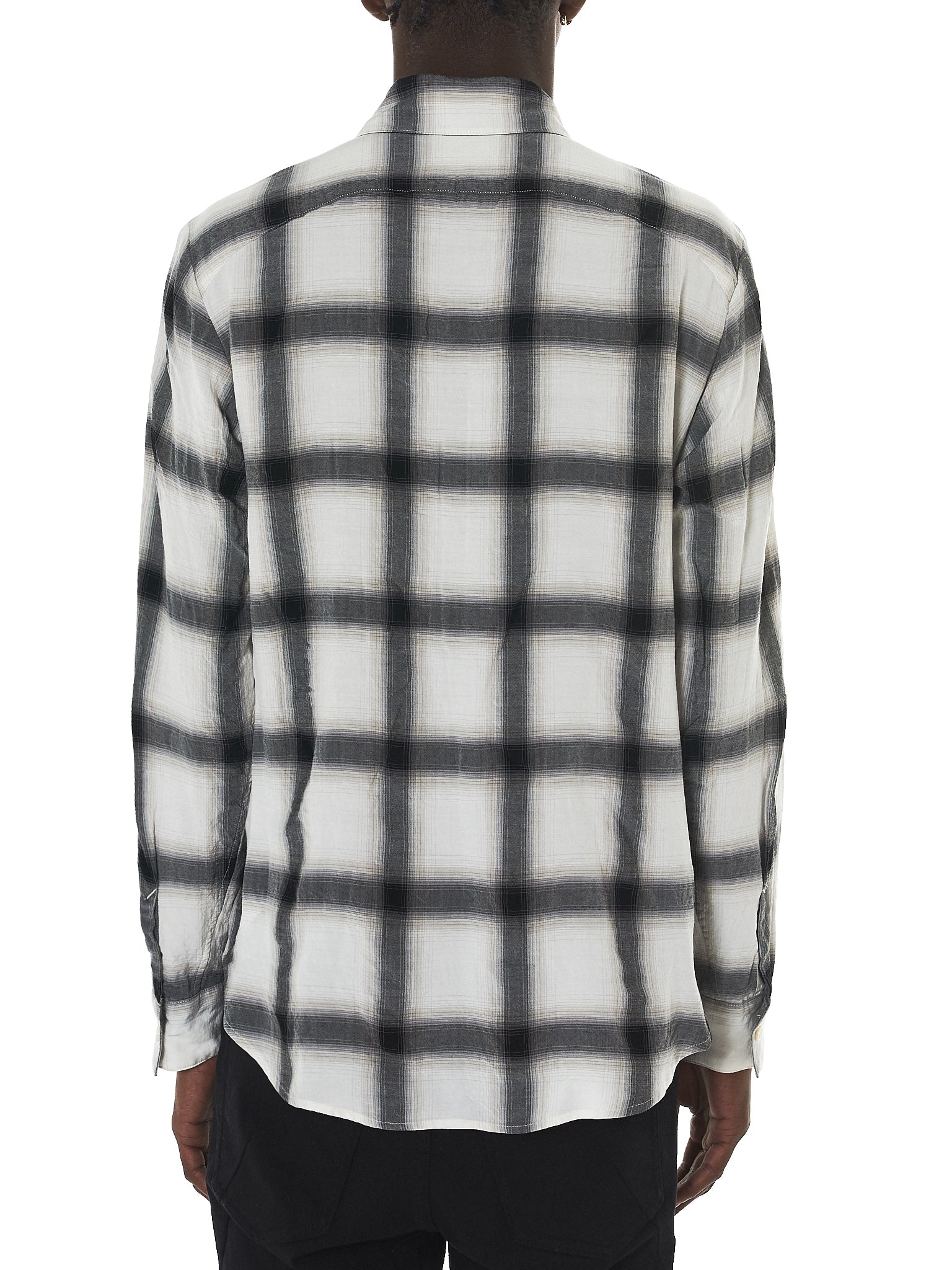 Attachment Kazuyuki Kumagai Plaid Shirt - Hlorenzo Back