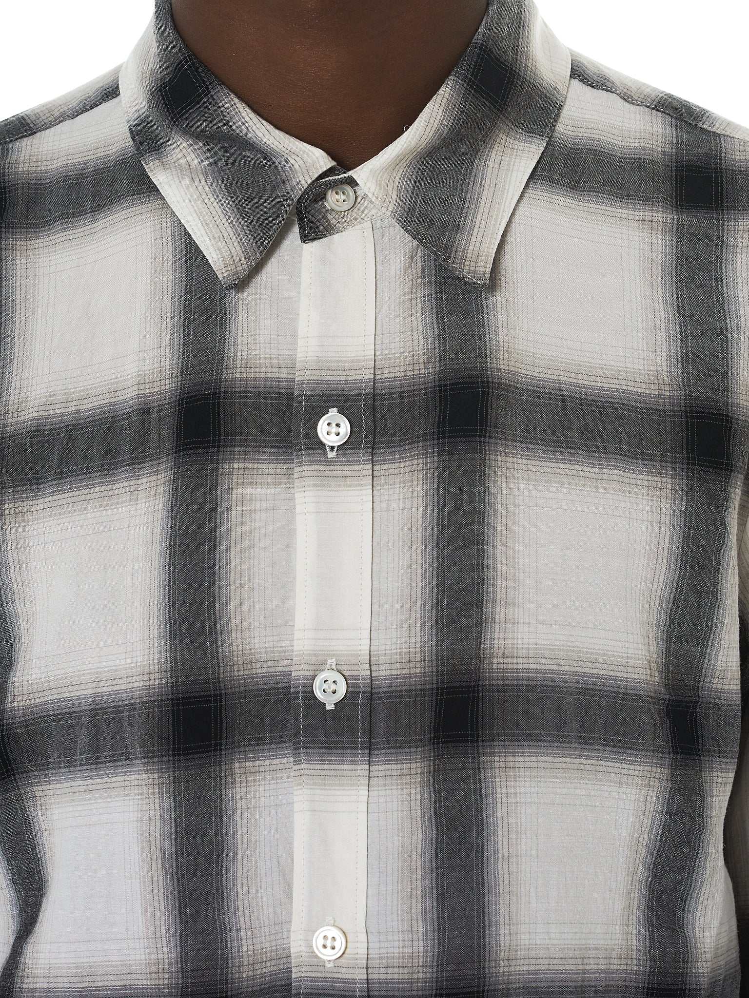 Attachment Kazuyuki Kumagai Plaid Shirt - Hlorenzo Detail 2