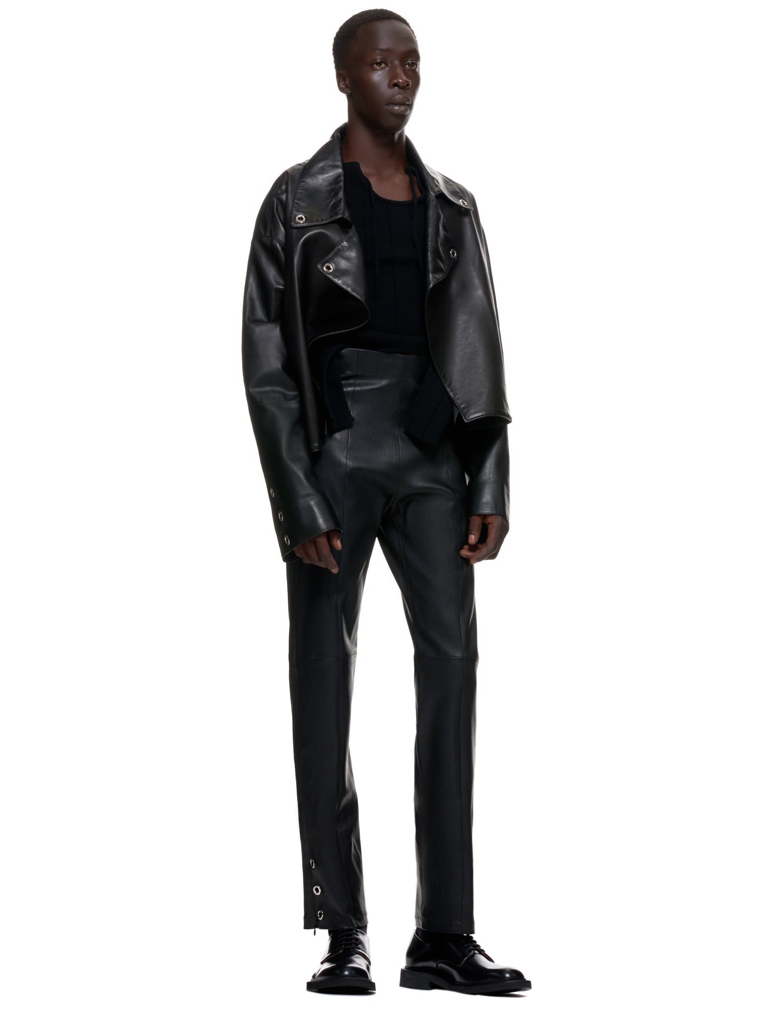 Ludovic De Saint Sernin Leather Pants | H.Lorenzo Style