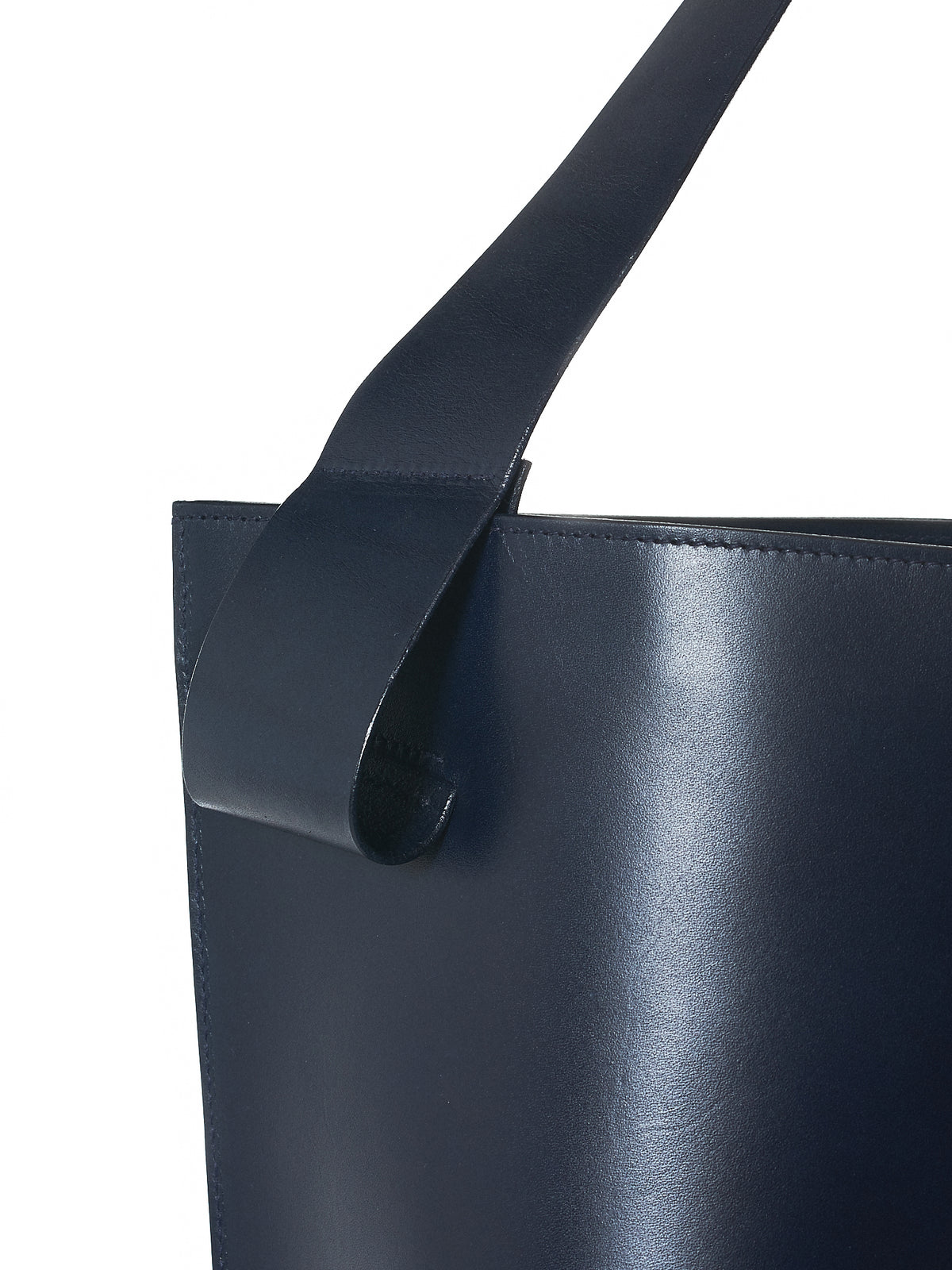 Twisted Leather Shoulder Bag (L011705-VEIRON-NAVY)