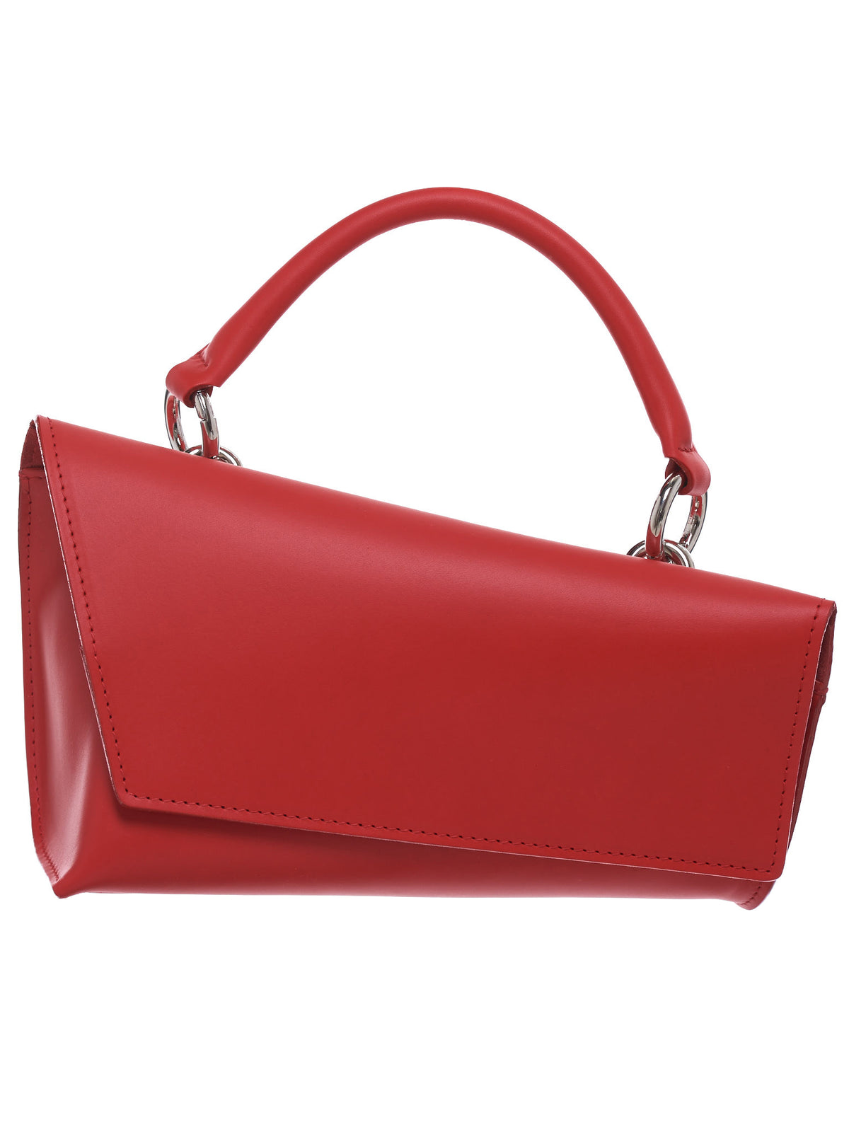 Asymmetrical Handbag (L041913R-RED-VEG-TAN)
