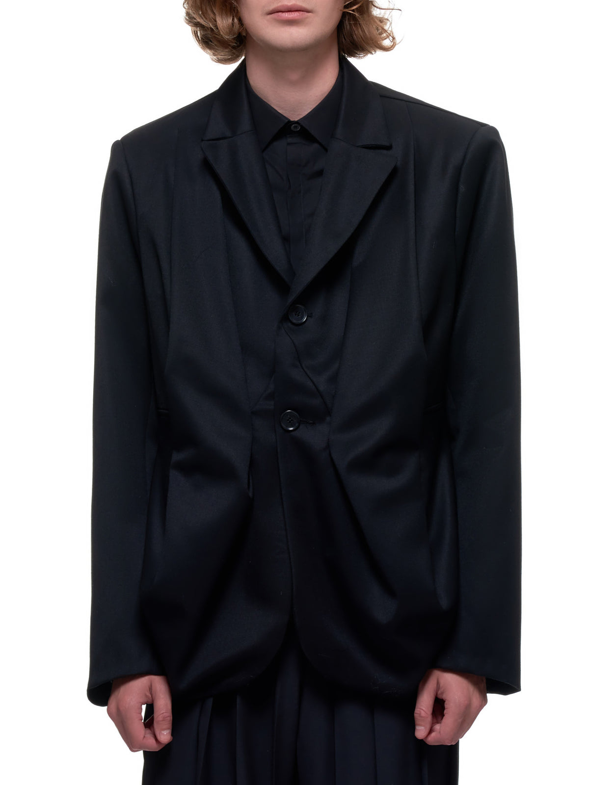 Wool Draped Jacket (LEERY-JACKET-W-BLACK)