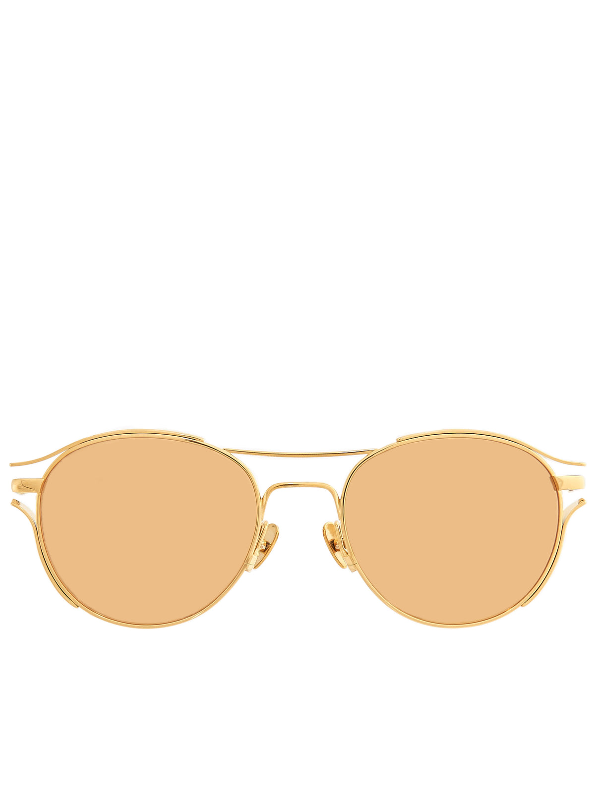 Oval Aviator Sunglasses (LFL944C1SUN-YELLOW-GOLD)