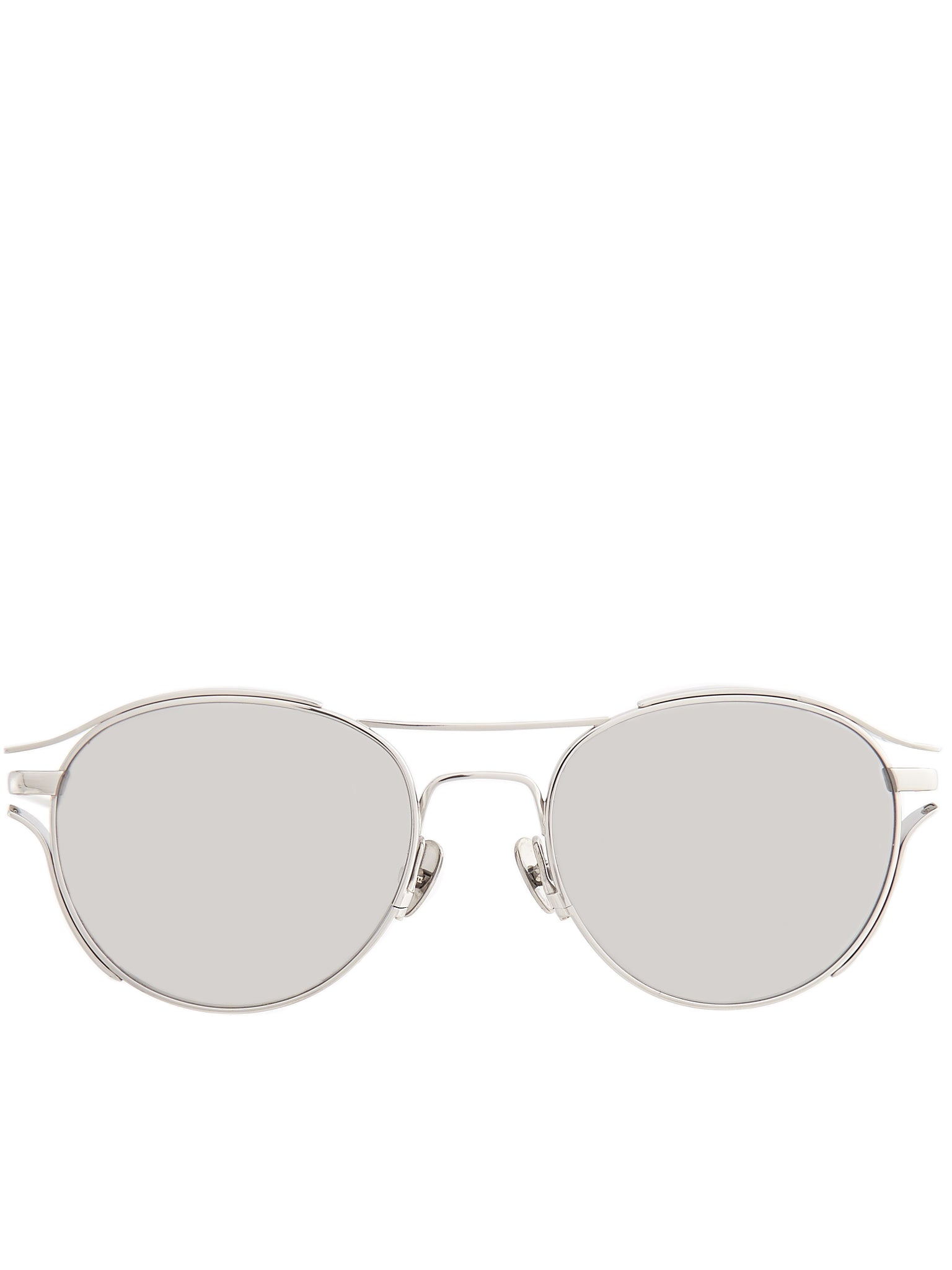 Oval Aviator Sunglasses (LFL944C2SUN-WHITE-GOLD-PLATINU)