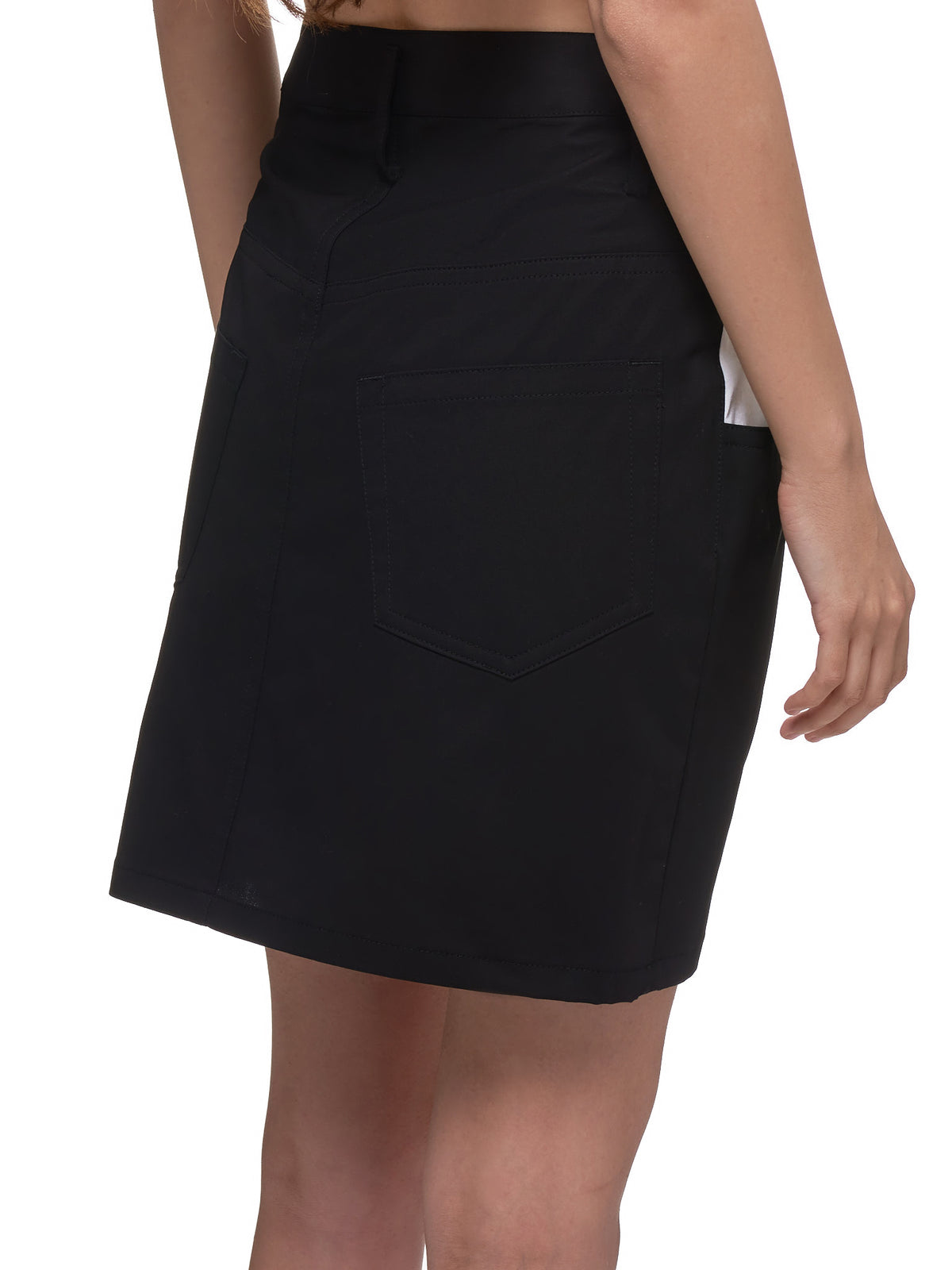 Crooked Circle Skirt (LN-S01-004-BLACK)