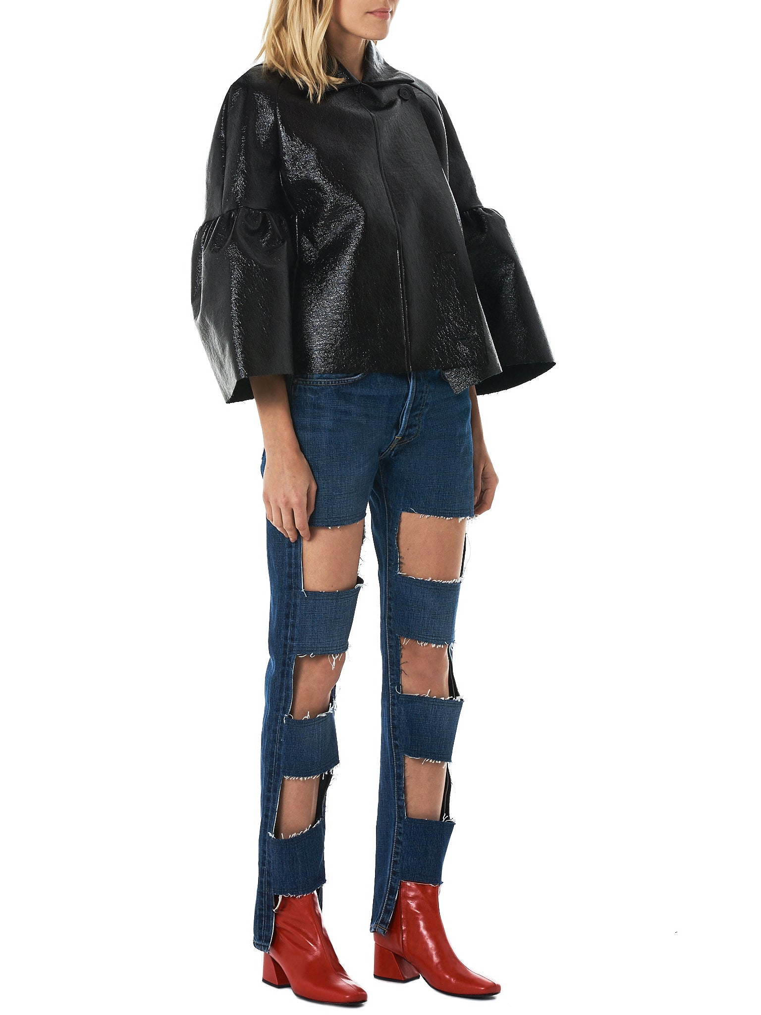 Lutz Huelle Cutout Denim Pants - Hlorenzo Style
