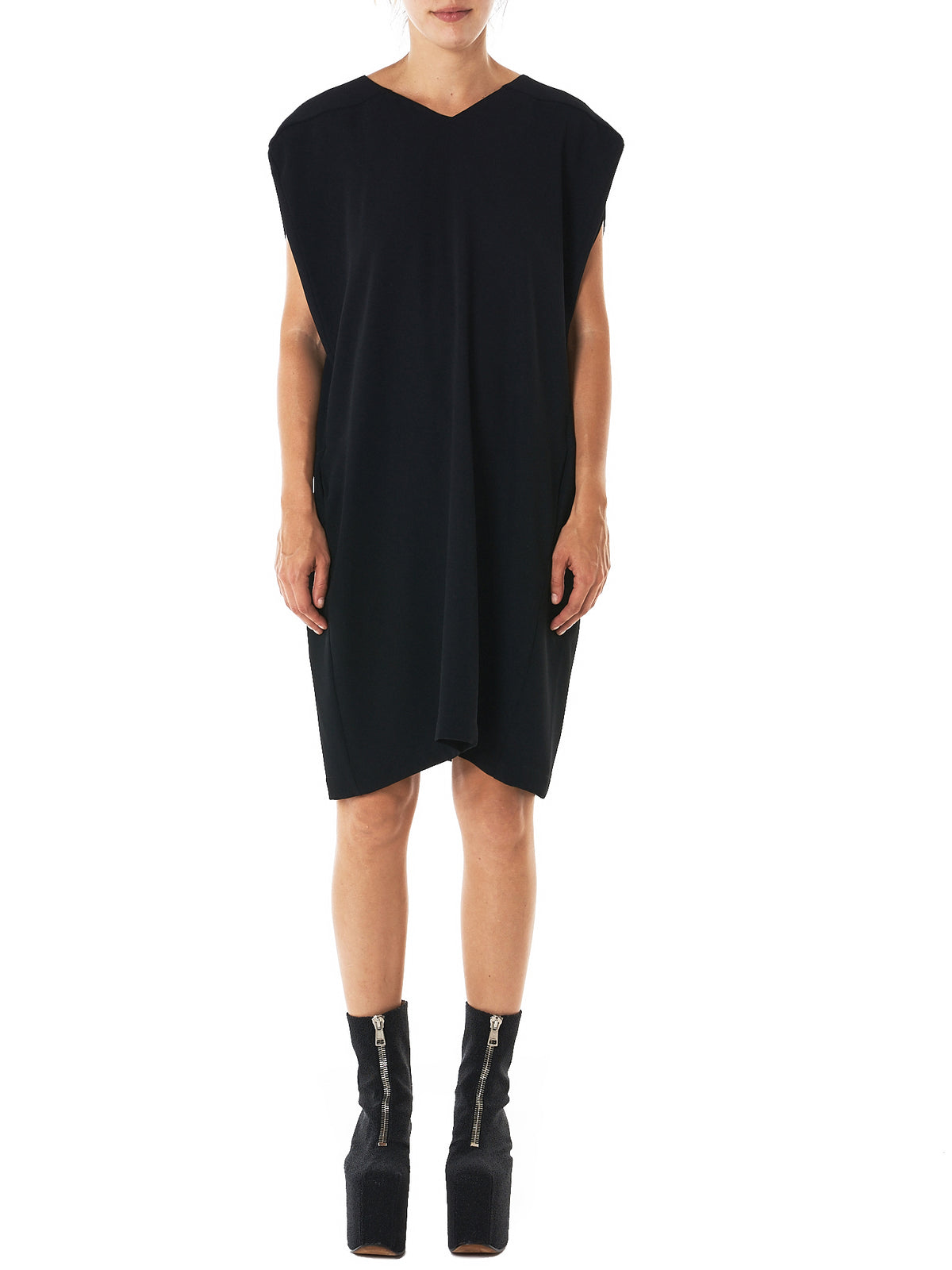 Structured Short Dress (LU4040-REDUX-BLACK)