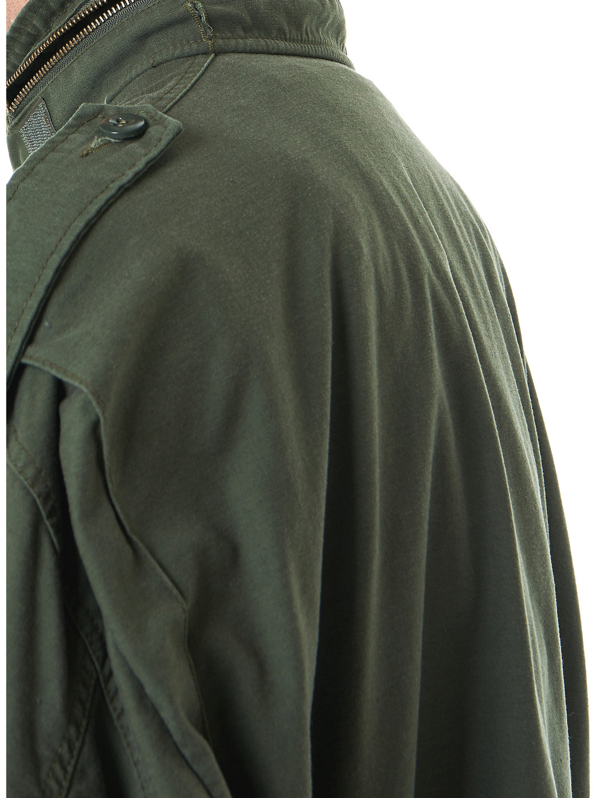 Oversized Military Coat (M-COASP03-GREEN-BLACK) - H. Lorenzo