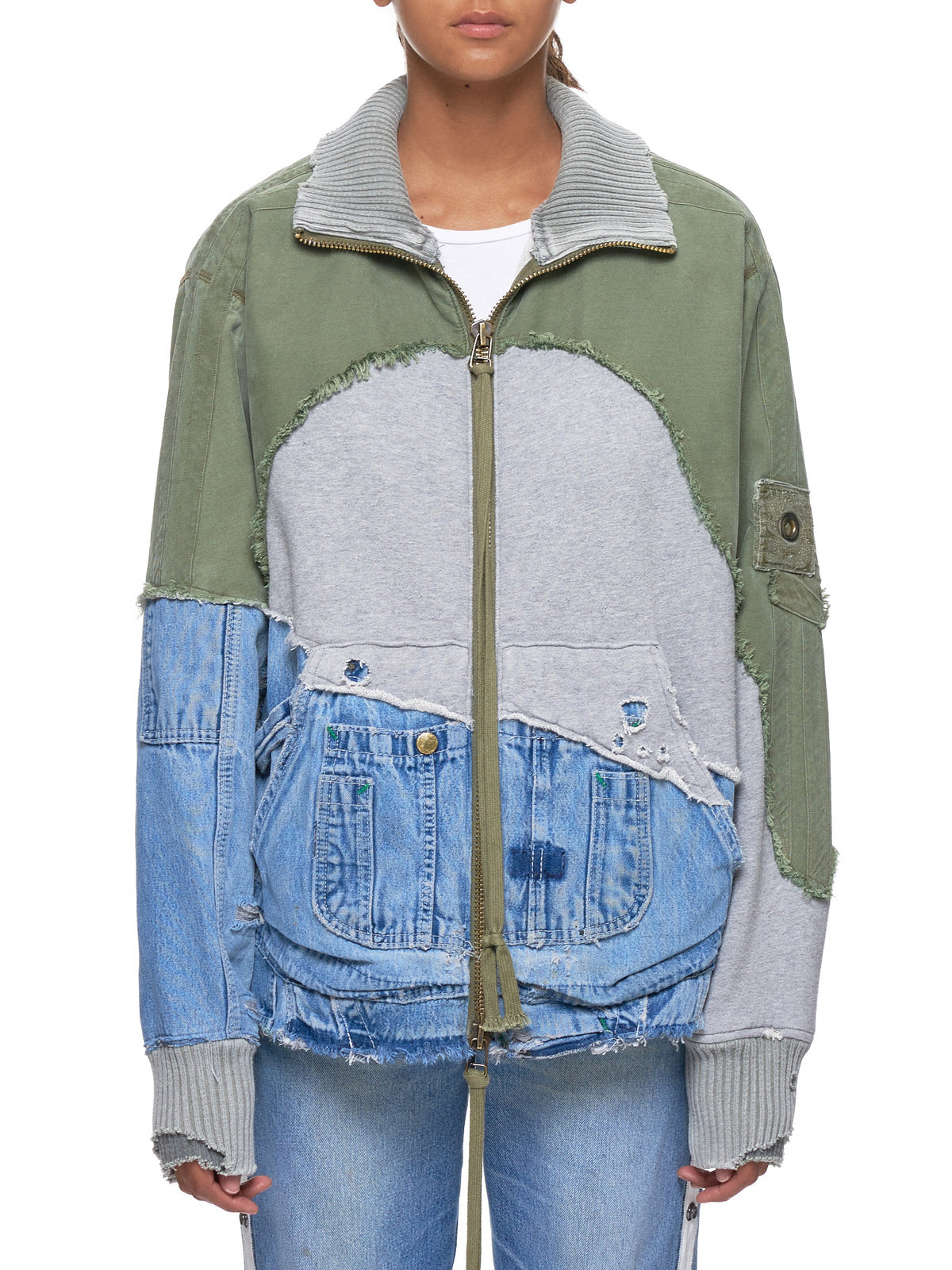 Deconstructed Jacket (M006-WARMY-DENIM-BLUE)