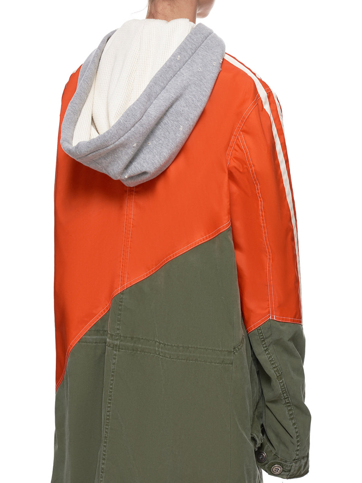 Orange Nylon Army Parka (M018-W-ORANGE-ARMY)