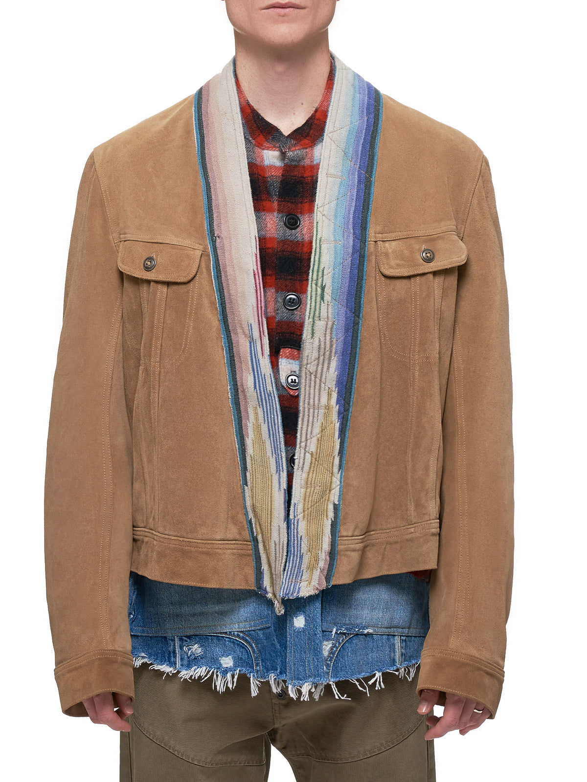 Greg Lauren Leather Jacket - Hlorenzo Front