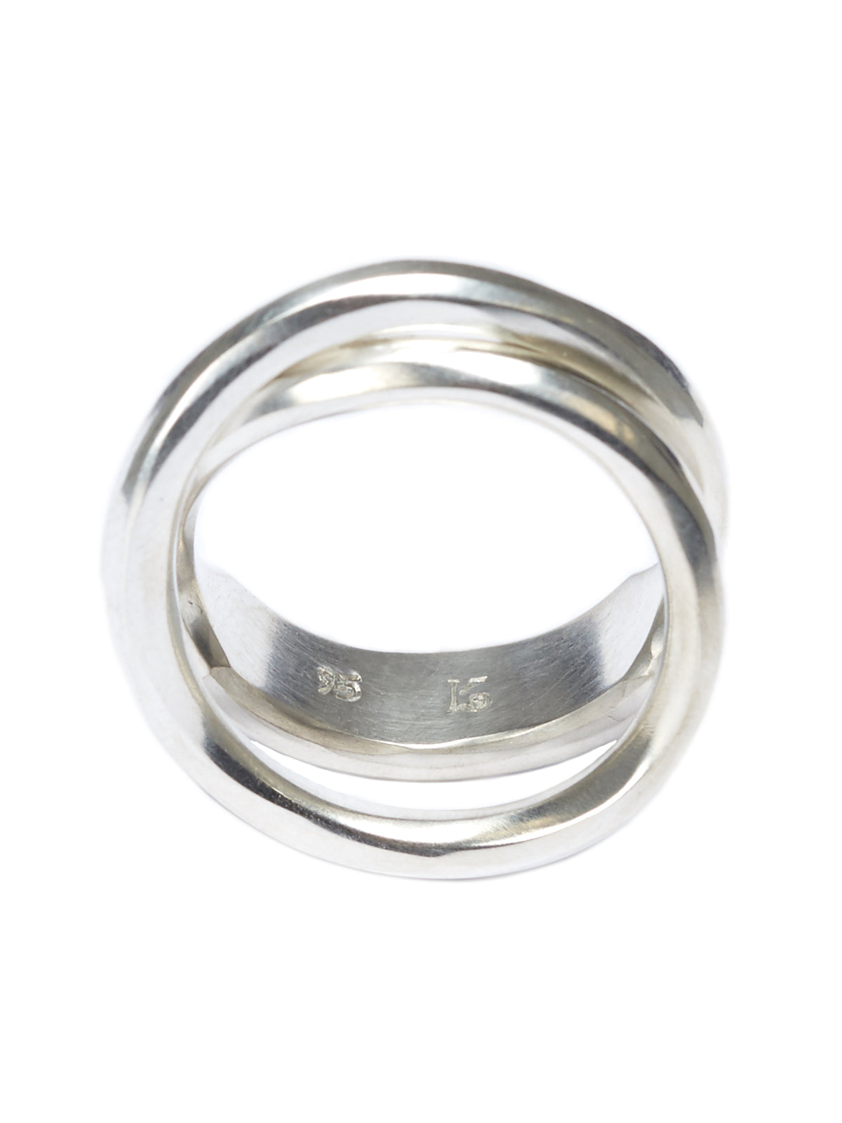 Forged Cross Ring (M1721-SILVER)