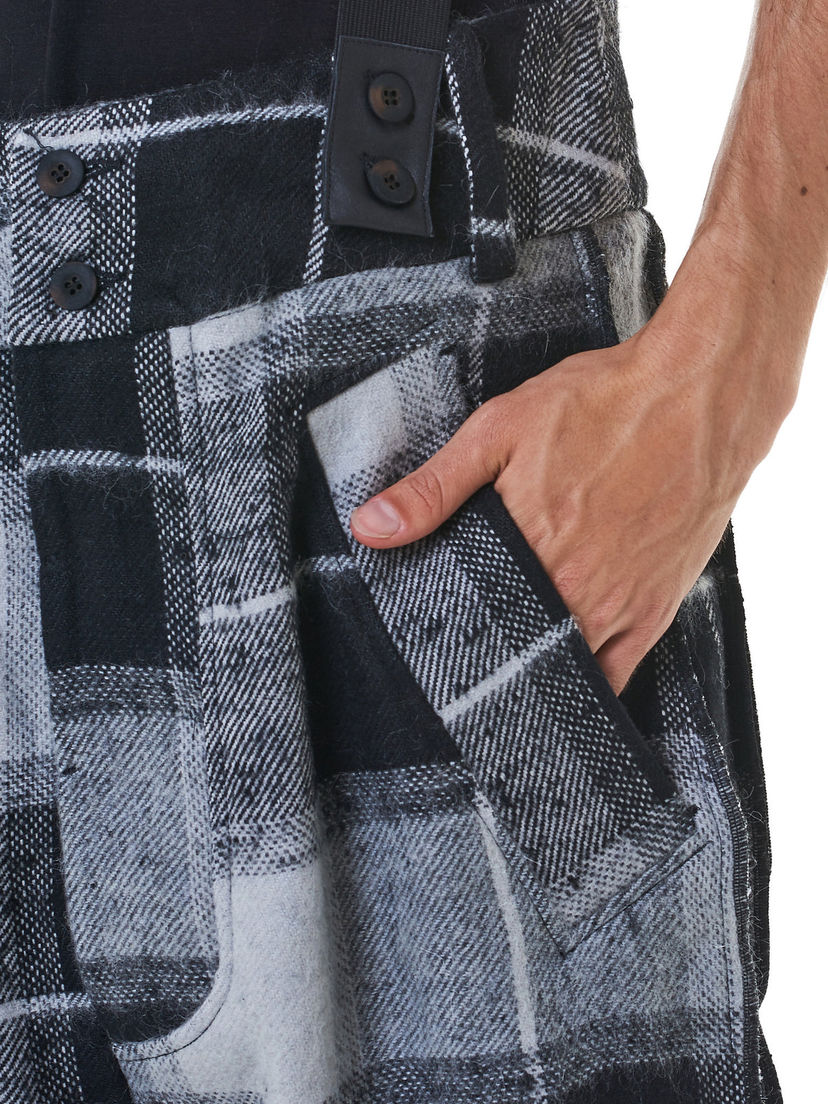 Suspended Flannel Joggers (M21-601-643-GREY)