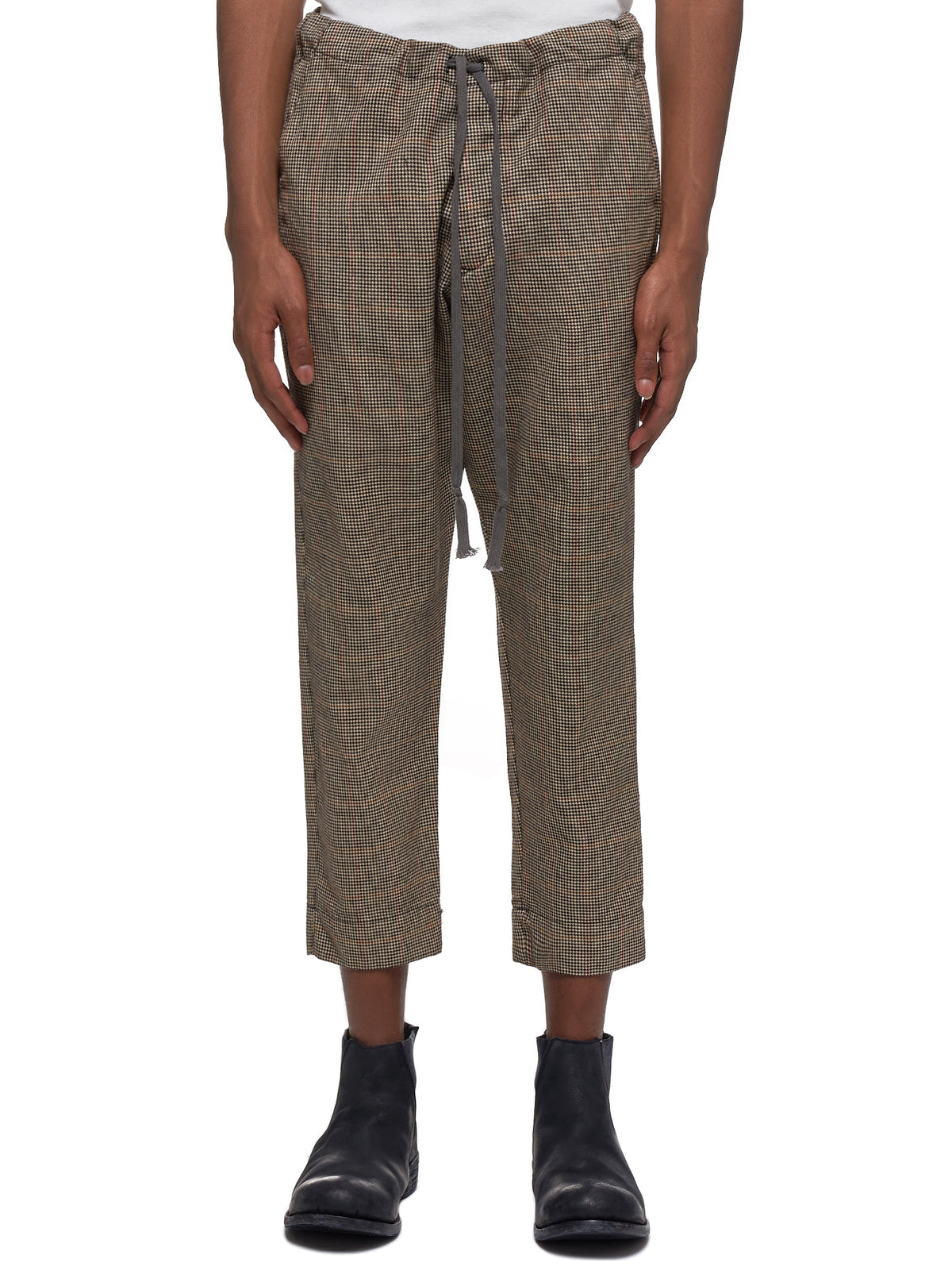 Woven Slim Lounge Trousers (M211-BROWN)