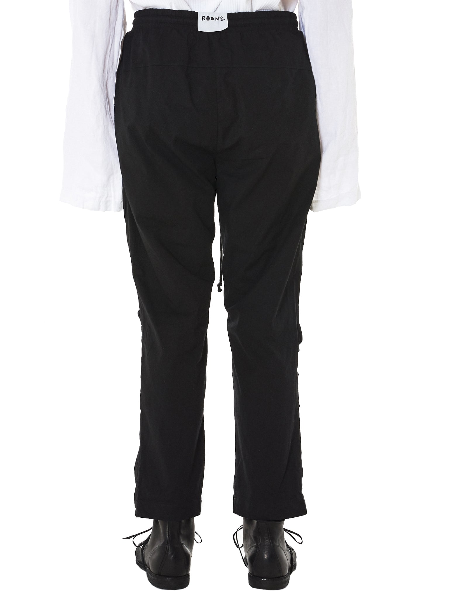 Stretch Cotton Trousers (M22-457-663R-BLACK)