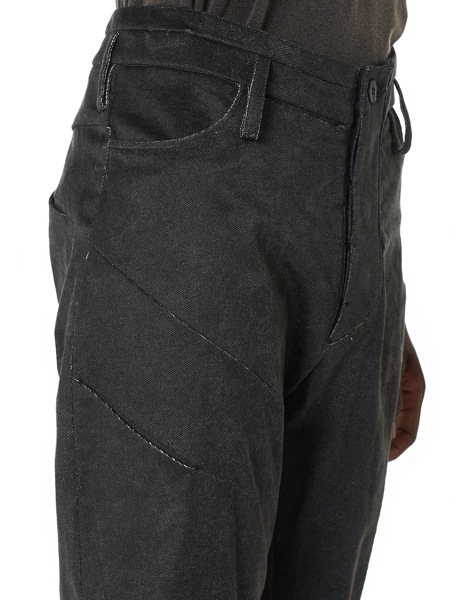 Darted Stacked Pant (M23-783-630-BLACK)