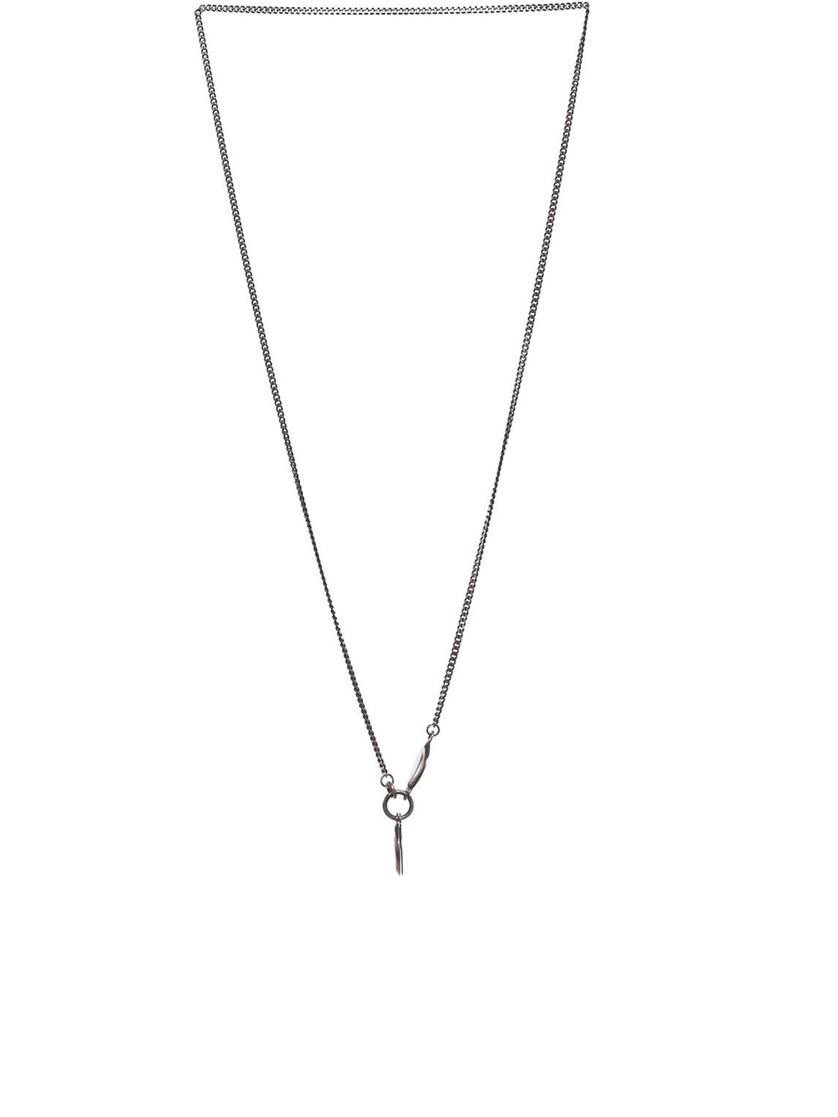 Hidden Plate Necklace (M3005-HIDDEN-PLATE-SILVER)