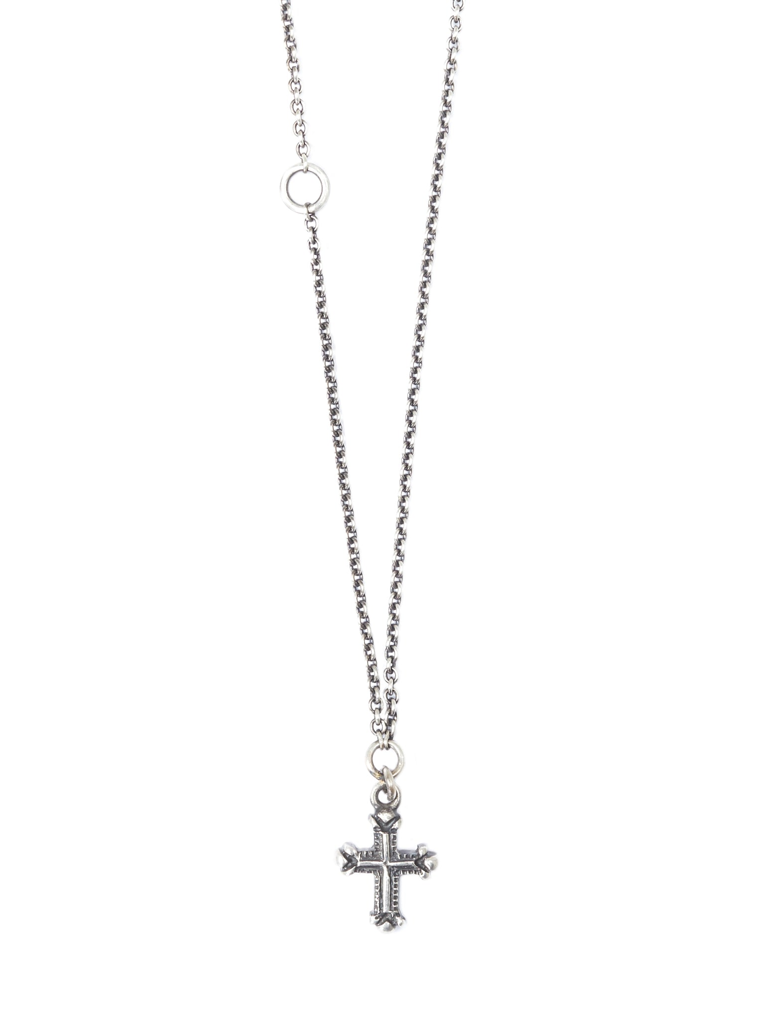 Cross Chain Necklace (M7410-SILVER)