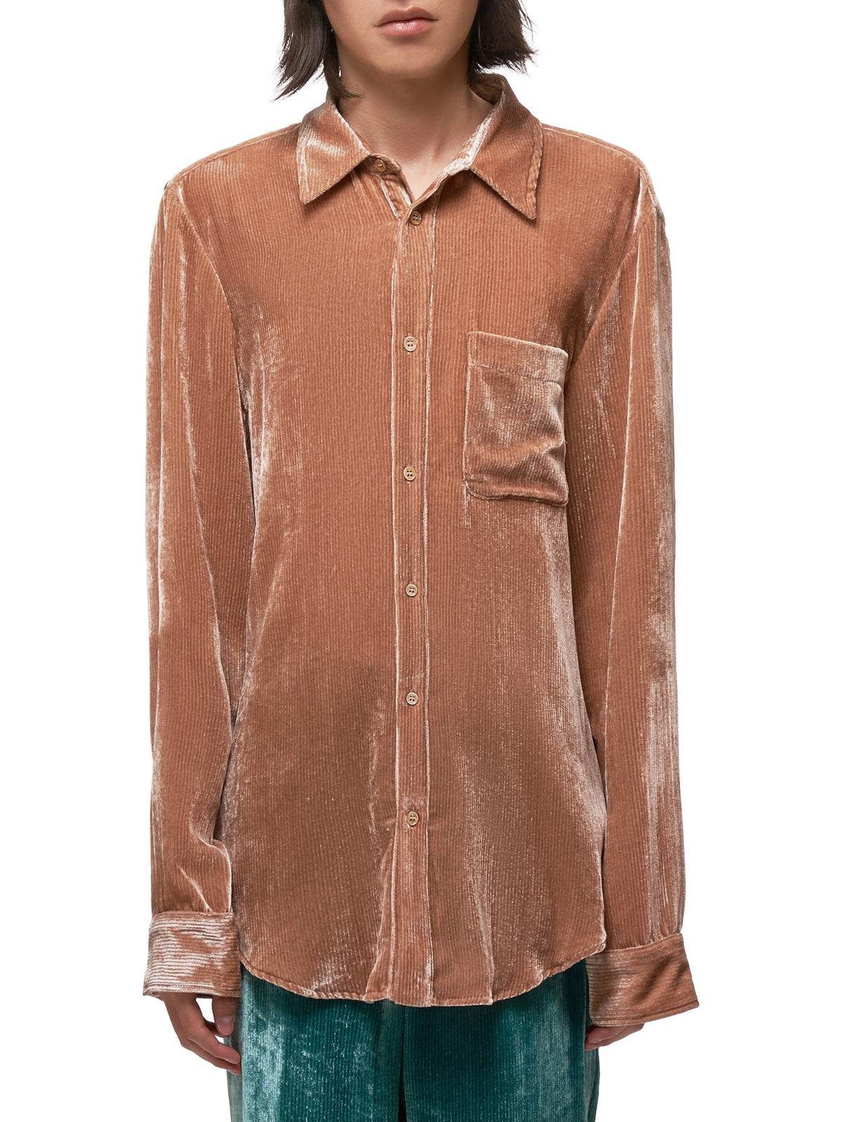 Sander Fluid Cord Shirt (M7FC301-DUSTY-ROSE)