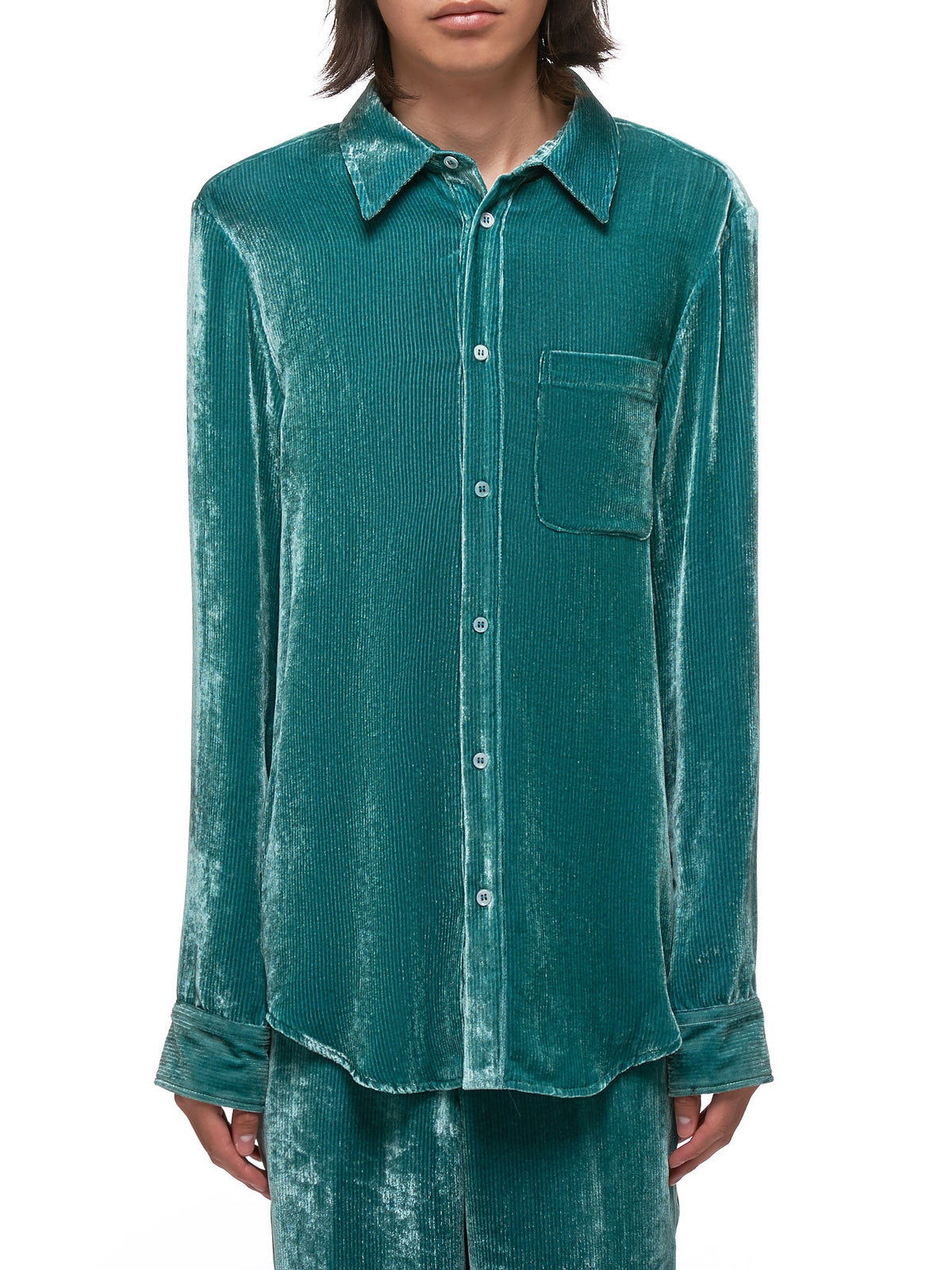 Sander Fluid Cord Shirt (M7FC301-GREEN)
