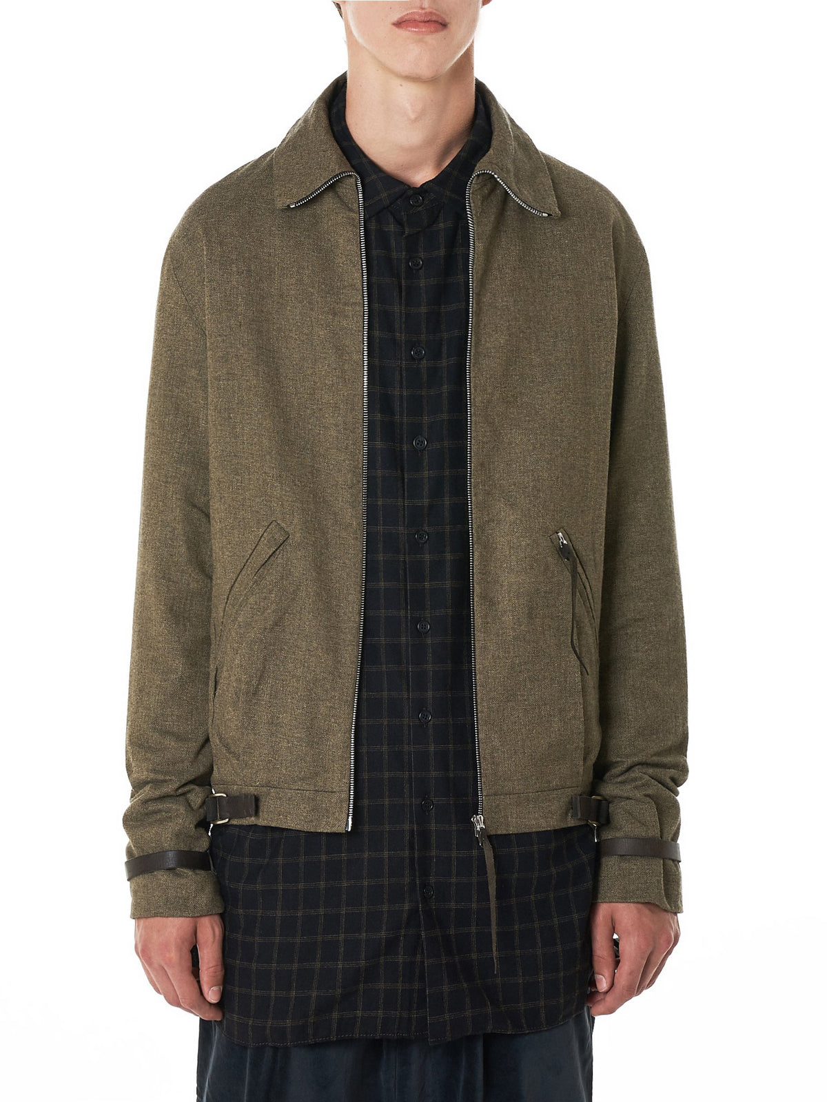 Strapped Flight Jacket (J410Z-WLC-MILITARY-GREY)