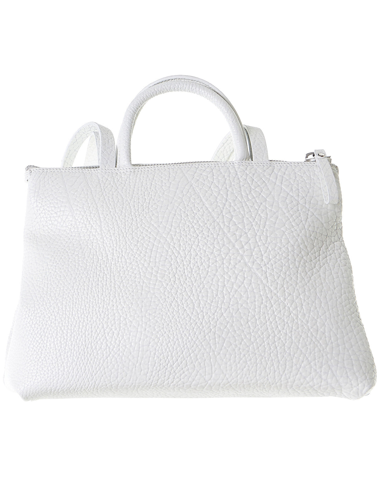 Leather Shoulder Bag (MB0286-WHITE)