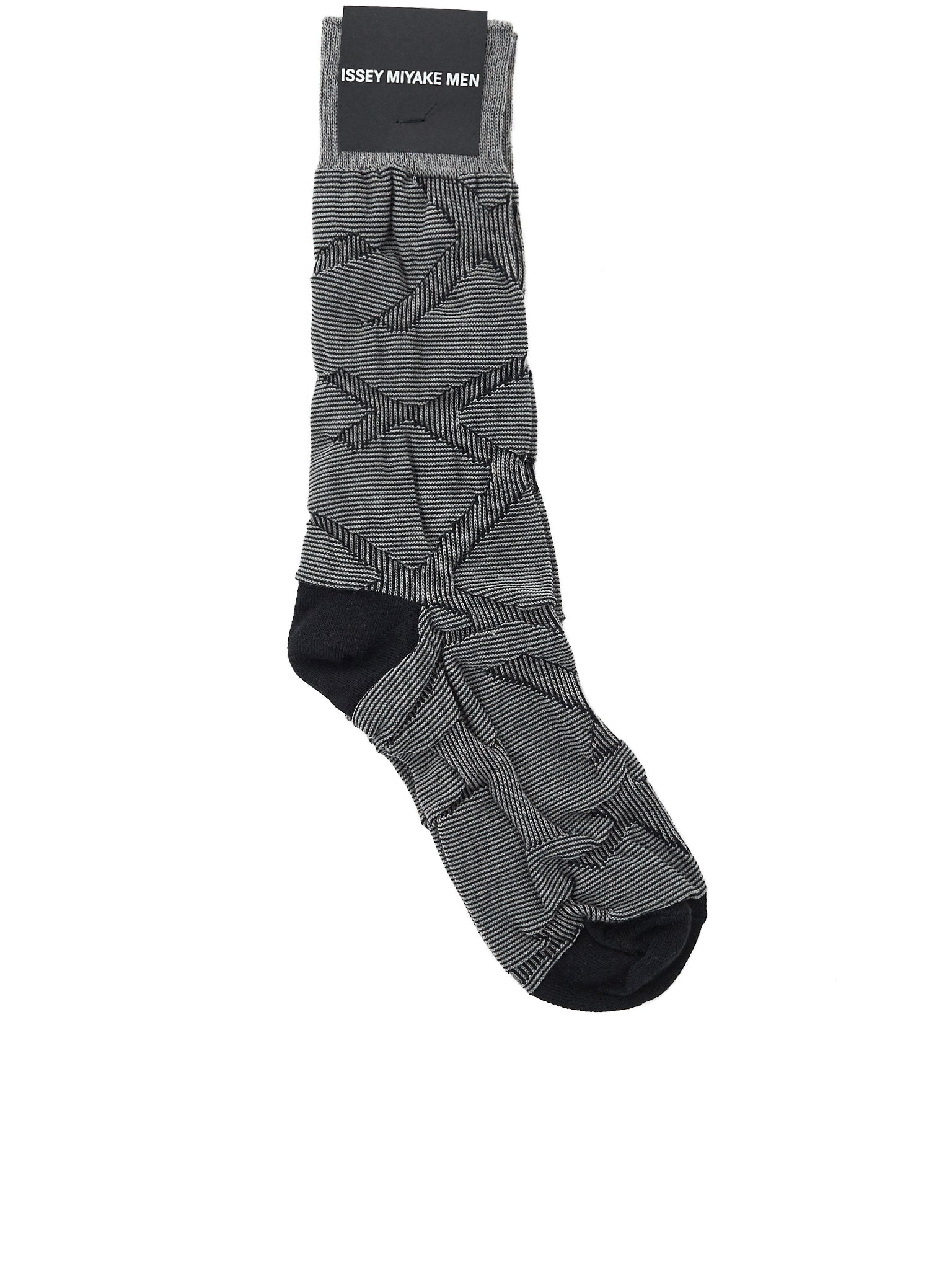 49d57a42f5da Striped 3D Socks (ME88AI005-15-GREY-BLACK)