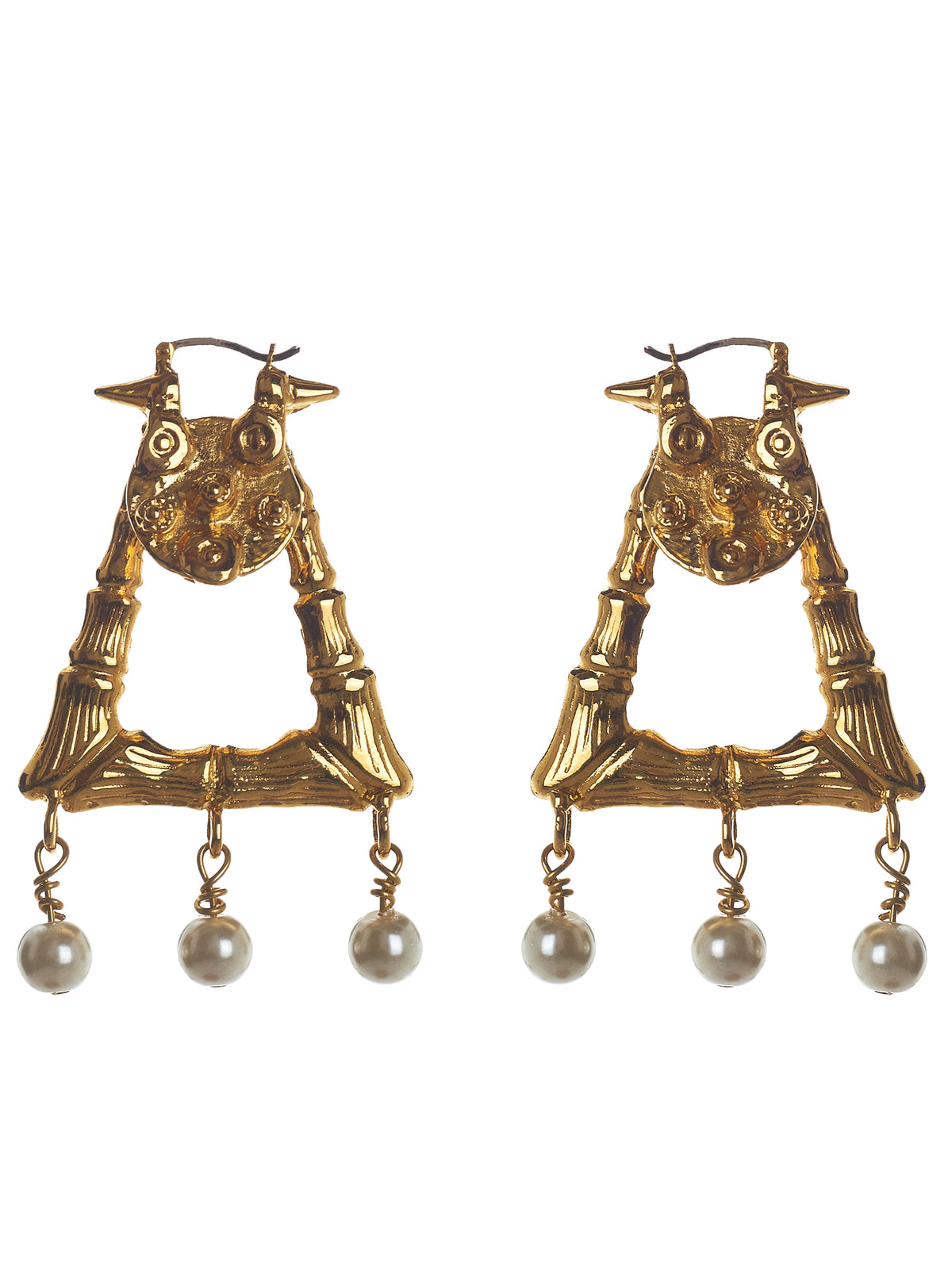 'The Shaman' Earrings (MEAW1515-GOLD-PLATING)