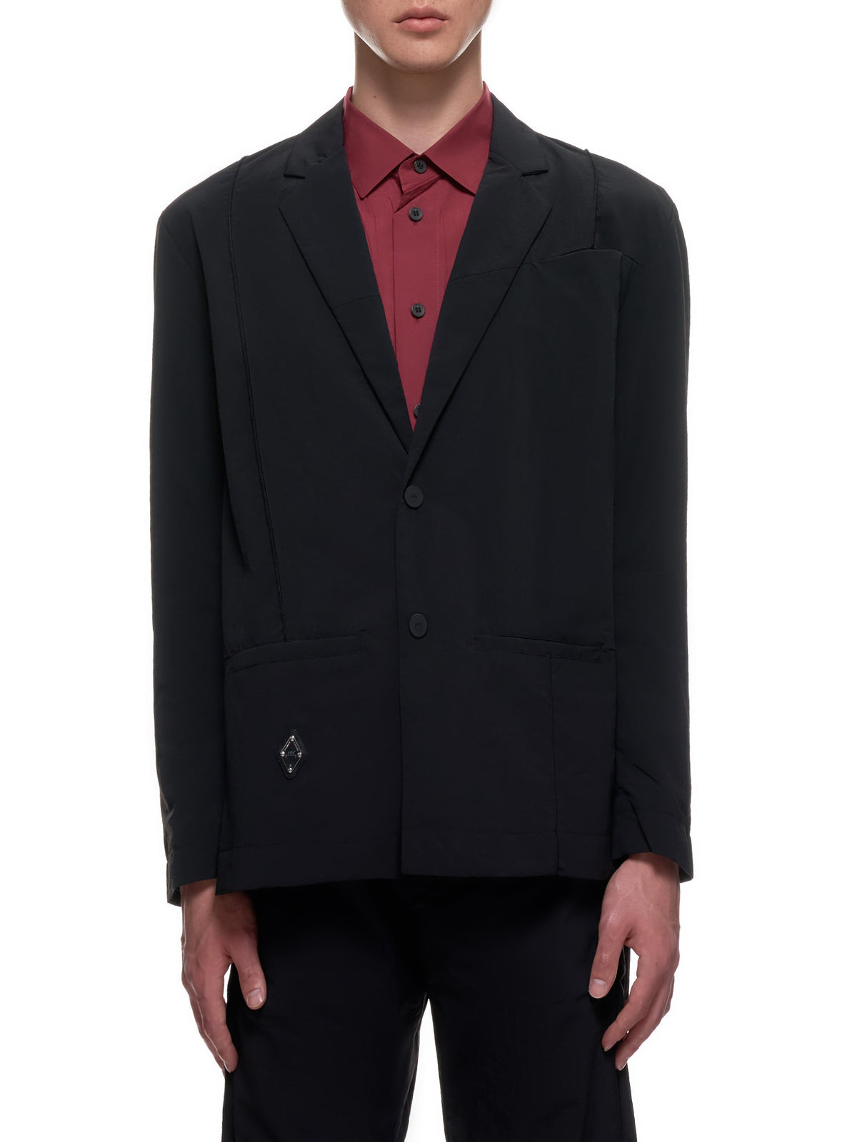 Nylon Suit Jacket (MH009-BLACK)