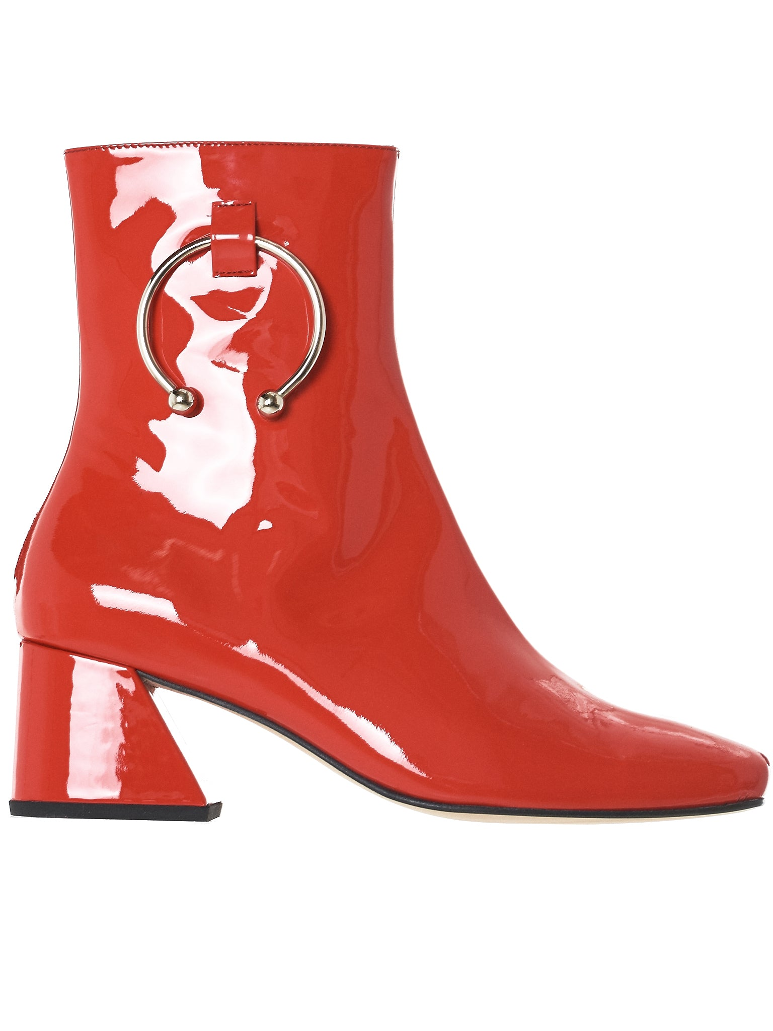 Patent Pierced Boots (NIZIP-PATENT-RED)