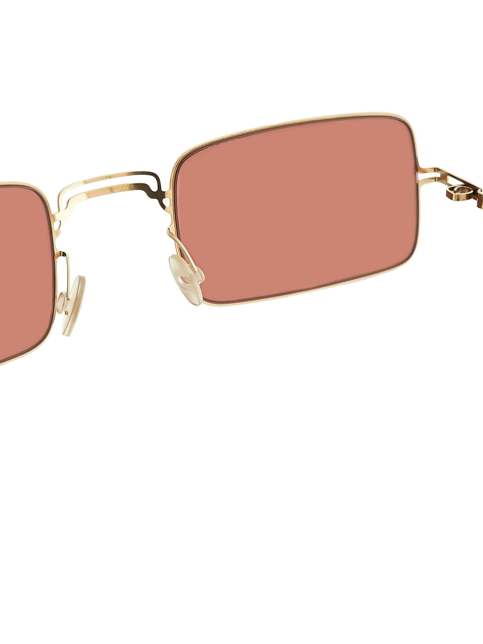 'MMCRAFT003' Square Frame Sunglasses (MMCRAFT003-CHAMPAGNEGOLD-PURPL)