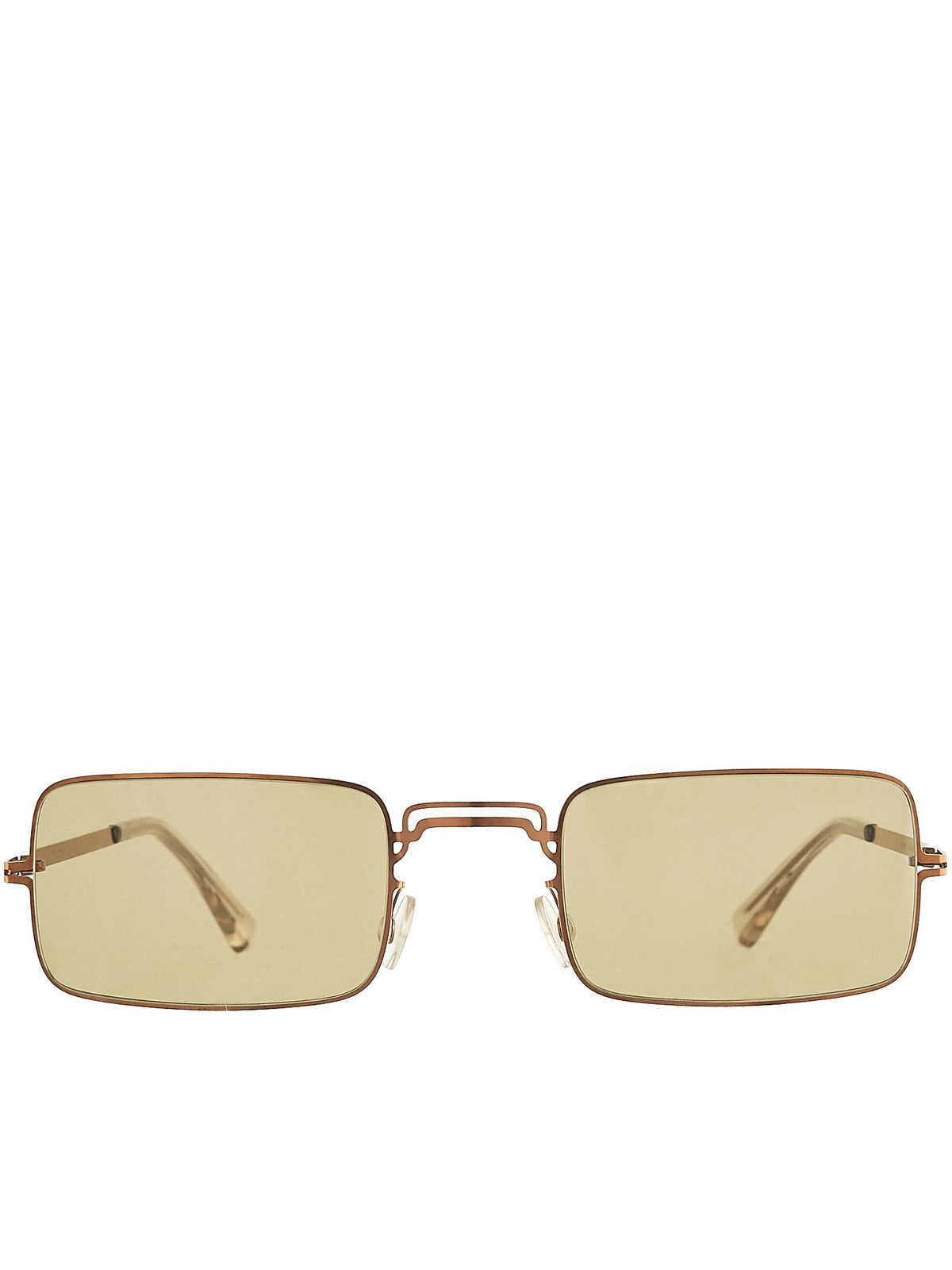 'MMCRAFT003' Square Frame Sunglasses (MMCRAFT003-COPPER-LIGHTBROWN)