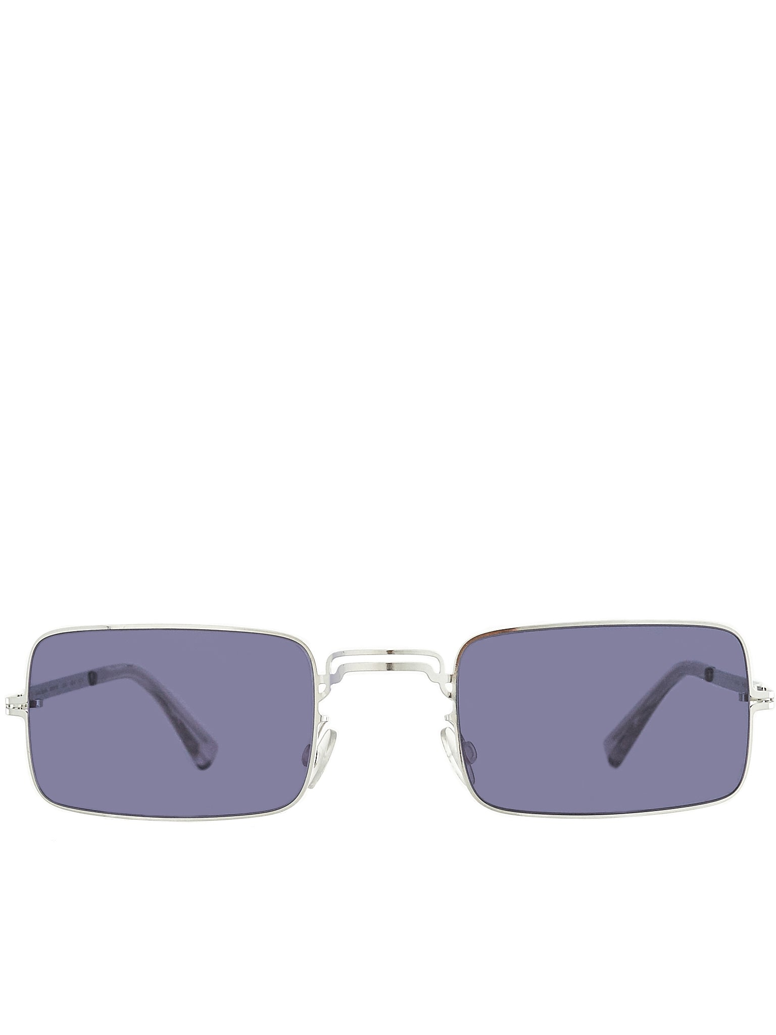 'MMCRAFT003' Square Frame Sunglasses (MMCRAFT003-SILVER-INDIGO)