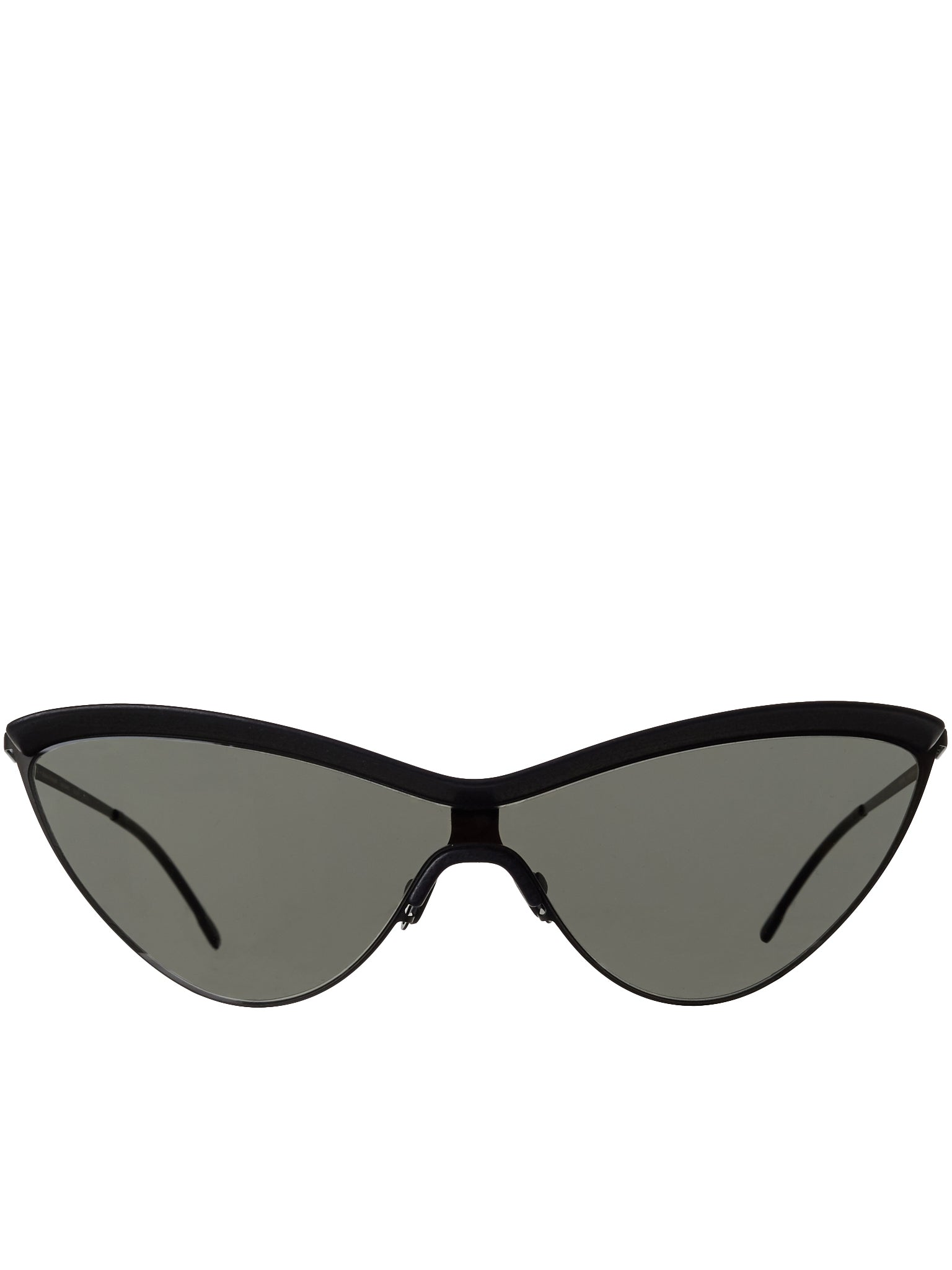 'MMECHO002' Cat Eye Sunglasses (MMECHO002-MH6-PBLK-BLK-DGREY)
