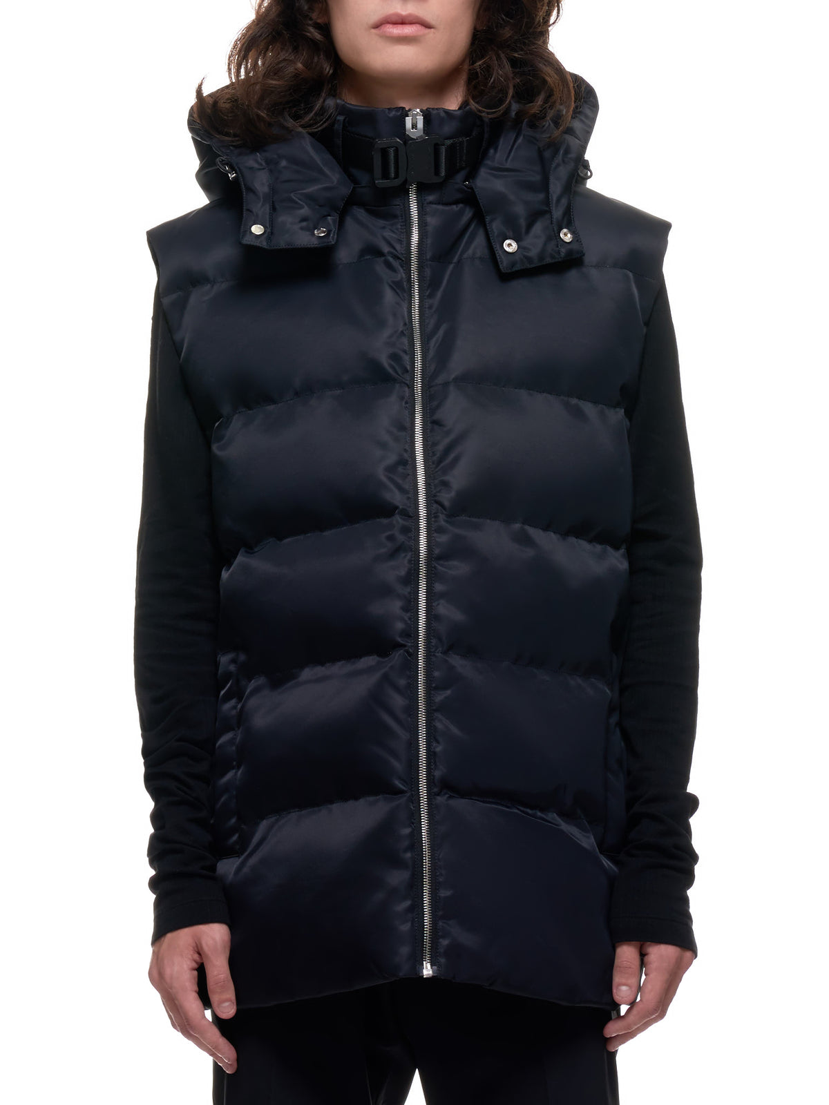 Padded Zip-up Vest (MOU0171FA01-BLACK)