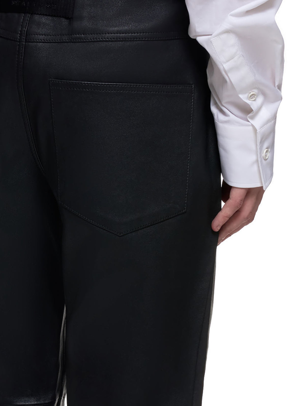 Leather 6 Pocket Trousers (MPA0032LE01-BLACK)
