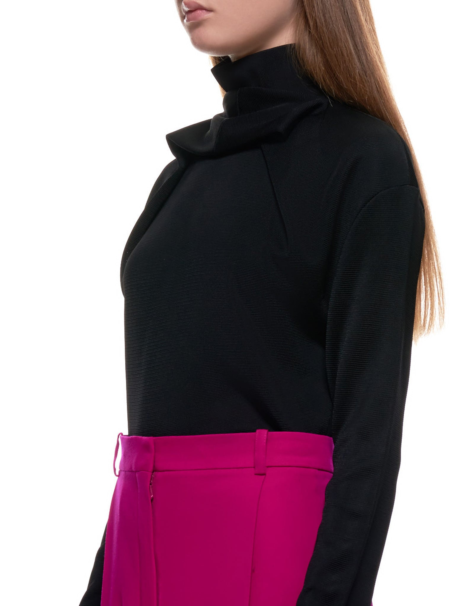 Layered Ring Neck Turtleneck (MPU009ML0463-BLACK)
