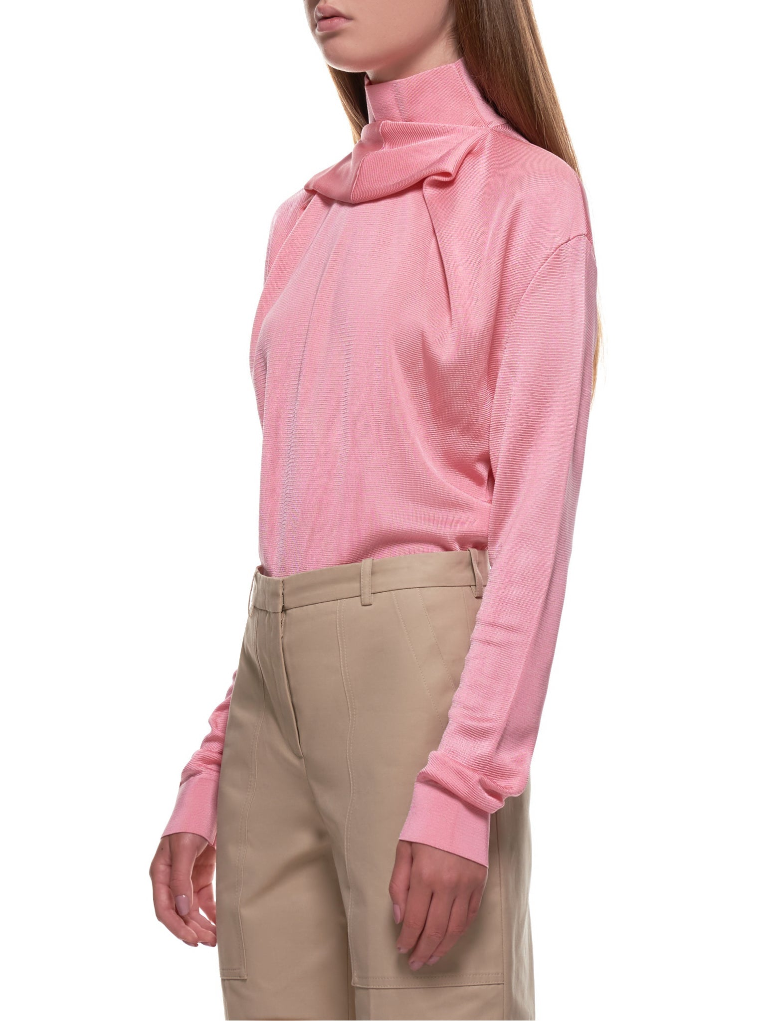Layered Ring Neck Turtleneck (MPU009ML0463-ROSE)