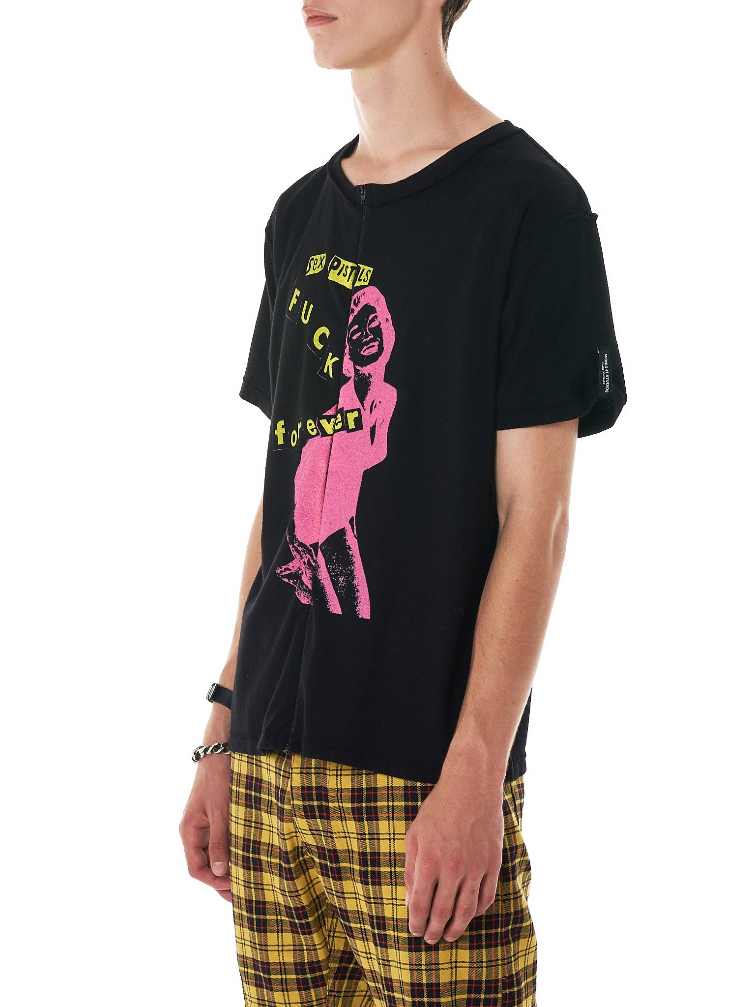 Midnight Studios x Sex Pistols Tee Shirt - Hlorenzo Side