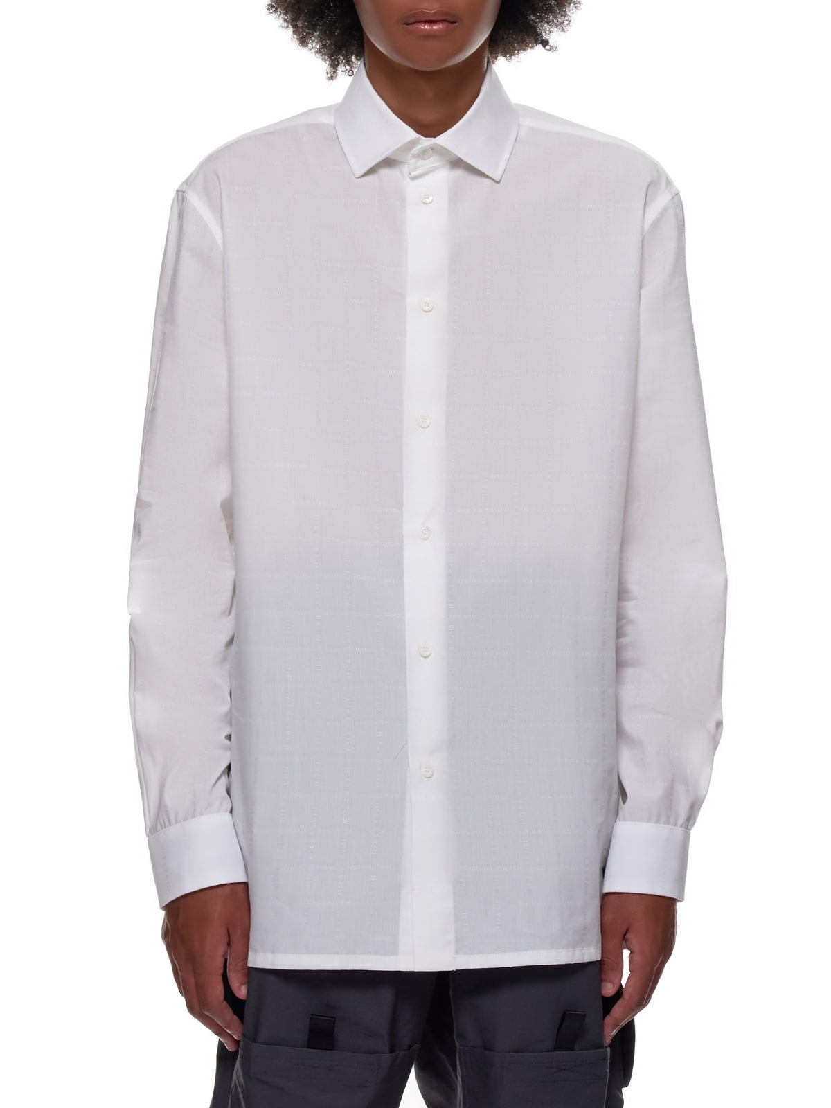 Embroidered Button Down Shirt (MSH0022FA06-WHITE)