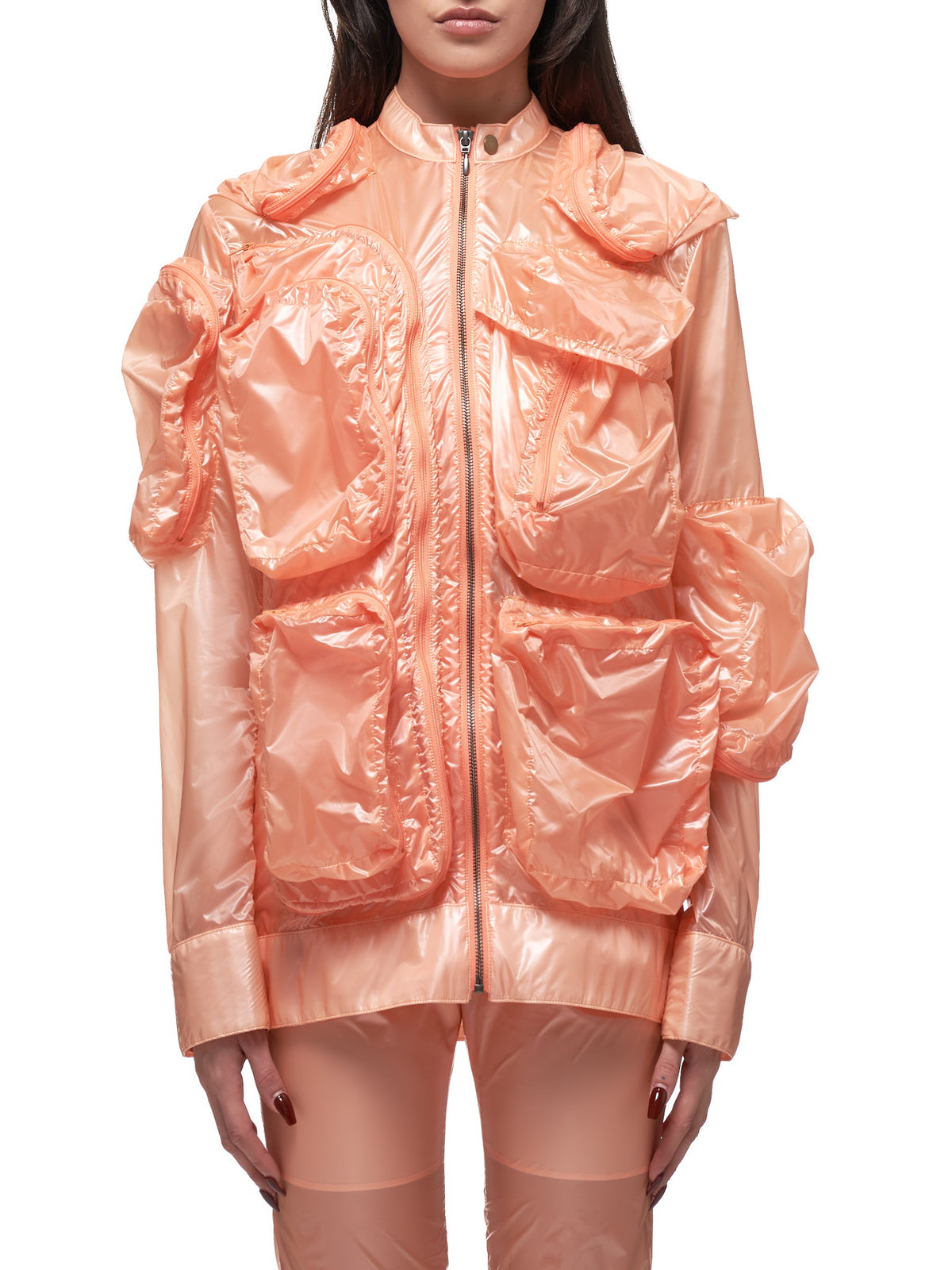 Nylon Plastic Jacket (MSS20C041-ORANGE)