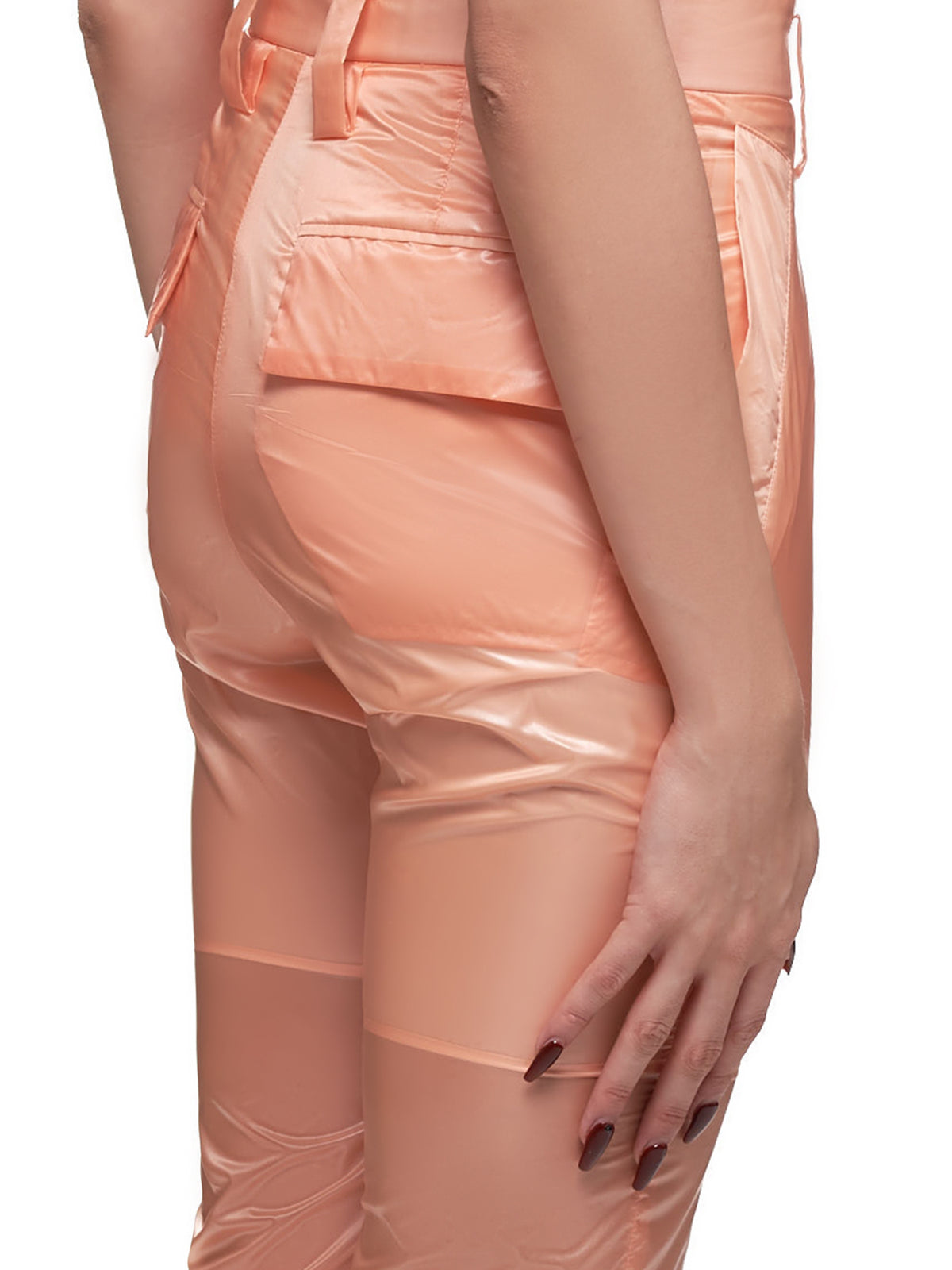 Nylon Plastic Trousers (MSS20P021-ORANGE)