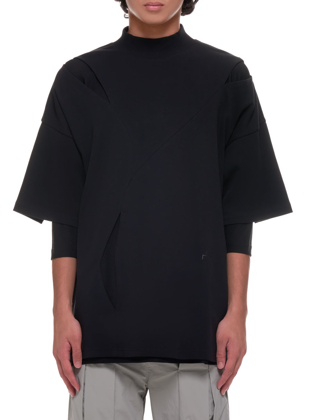 Multi-Layered Concept T-Shirt (MTS026-BLACK)