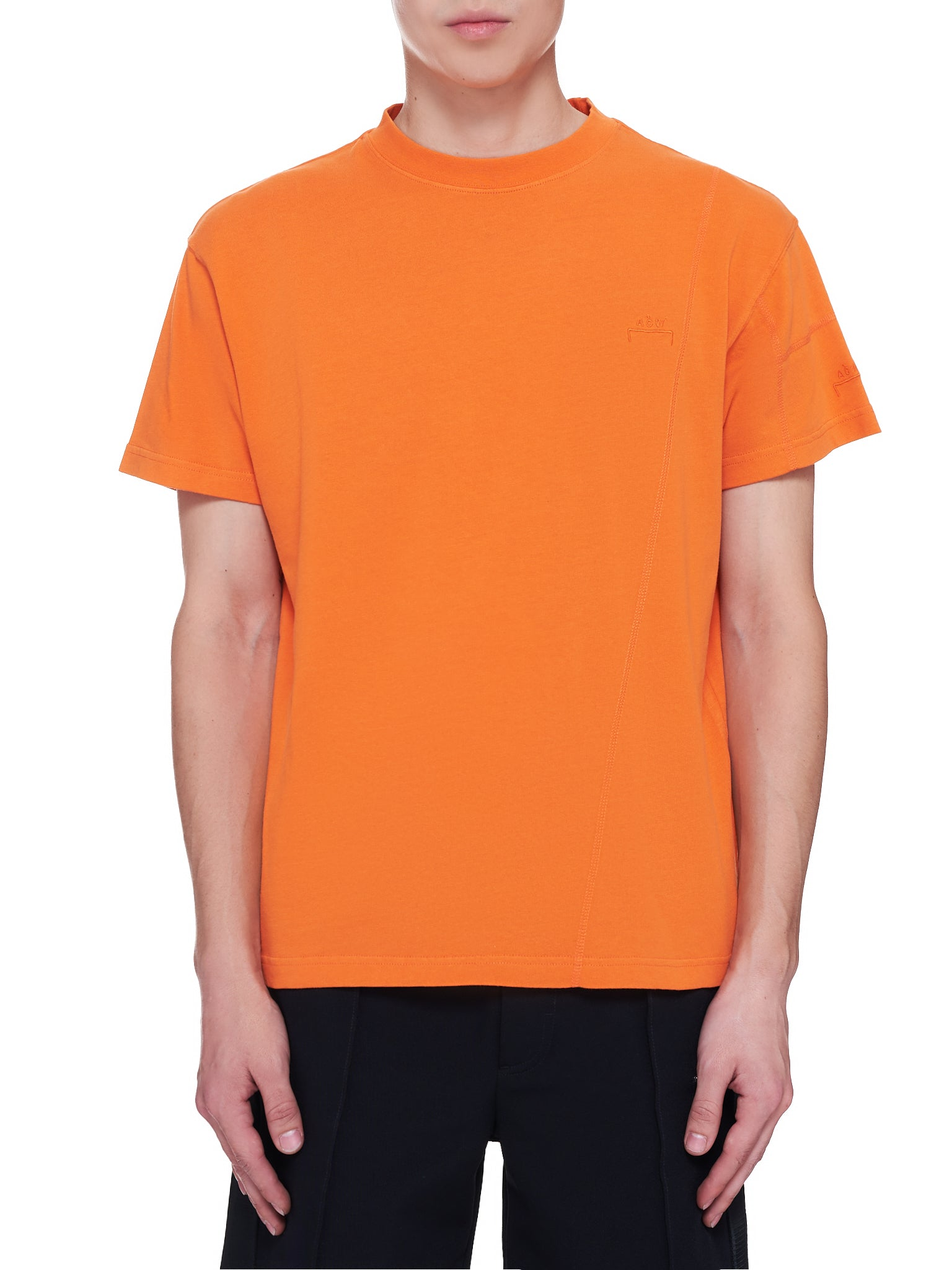 Embroidered Logo T-Shirt (MTS029-PUFFIN-ORANGE)