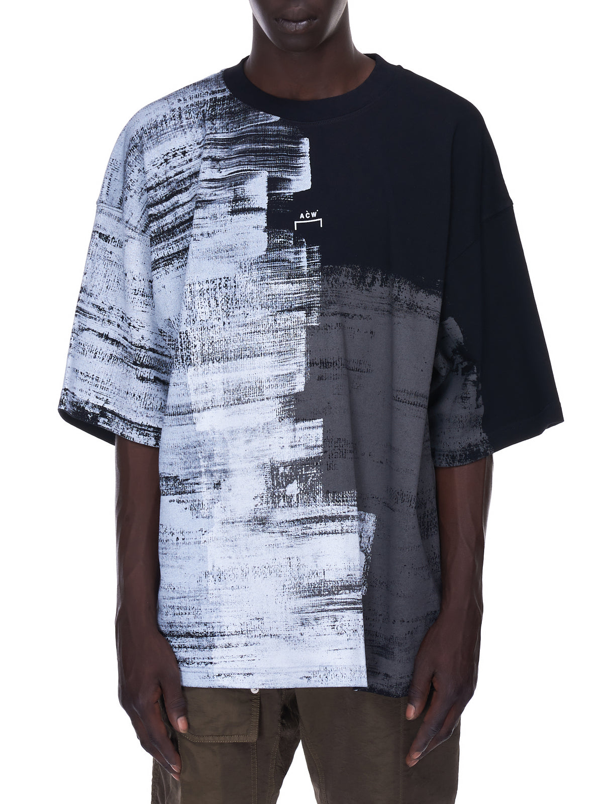 Brush Stroke T-Shirt (MTS032-BLACK)