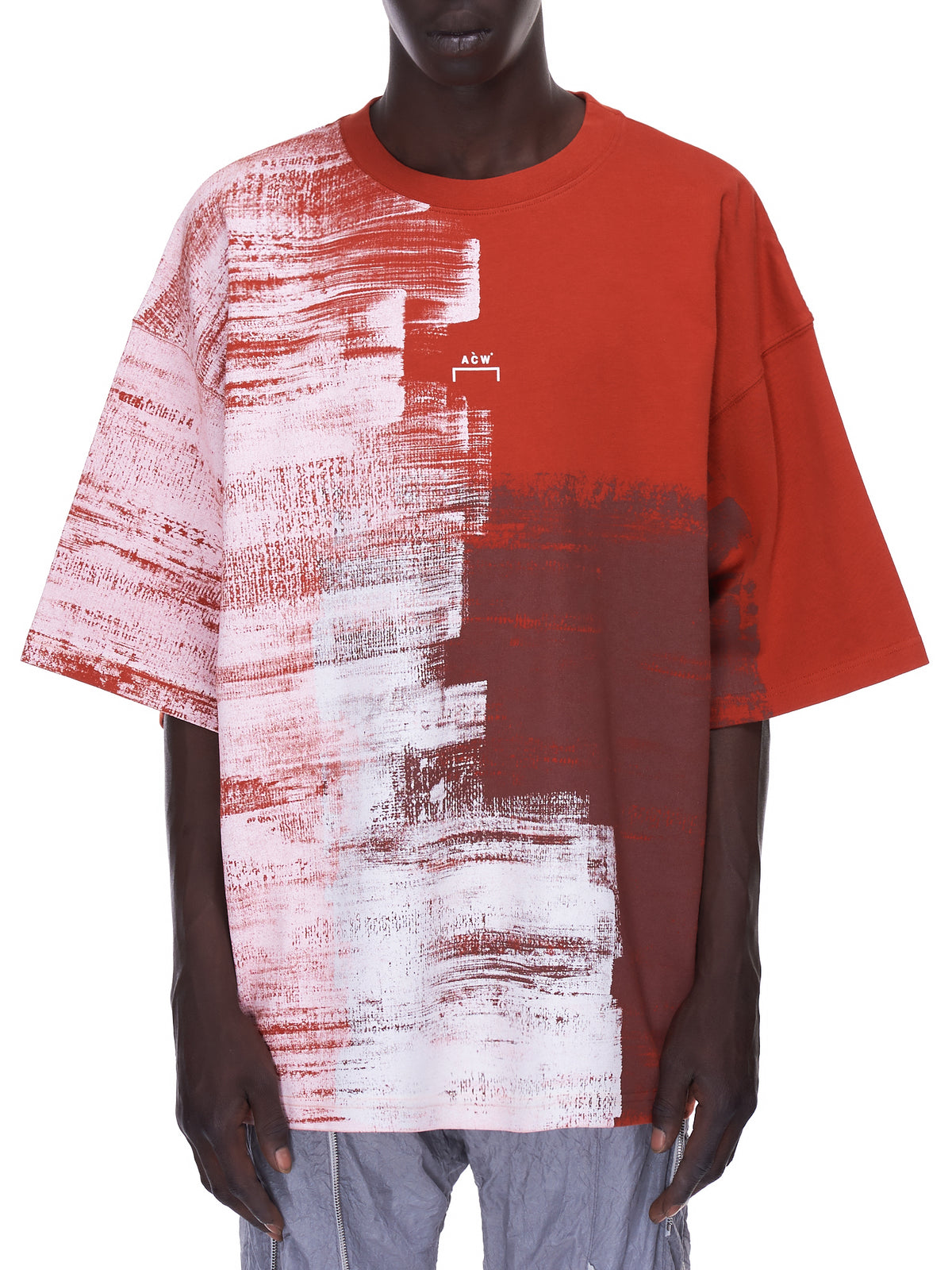 Brush Stroke T-Shirt (MTS032-RUST-OXIDE)