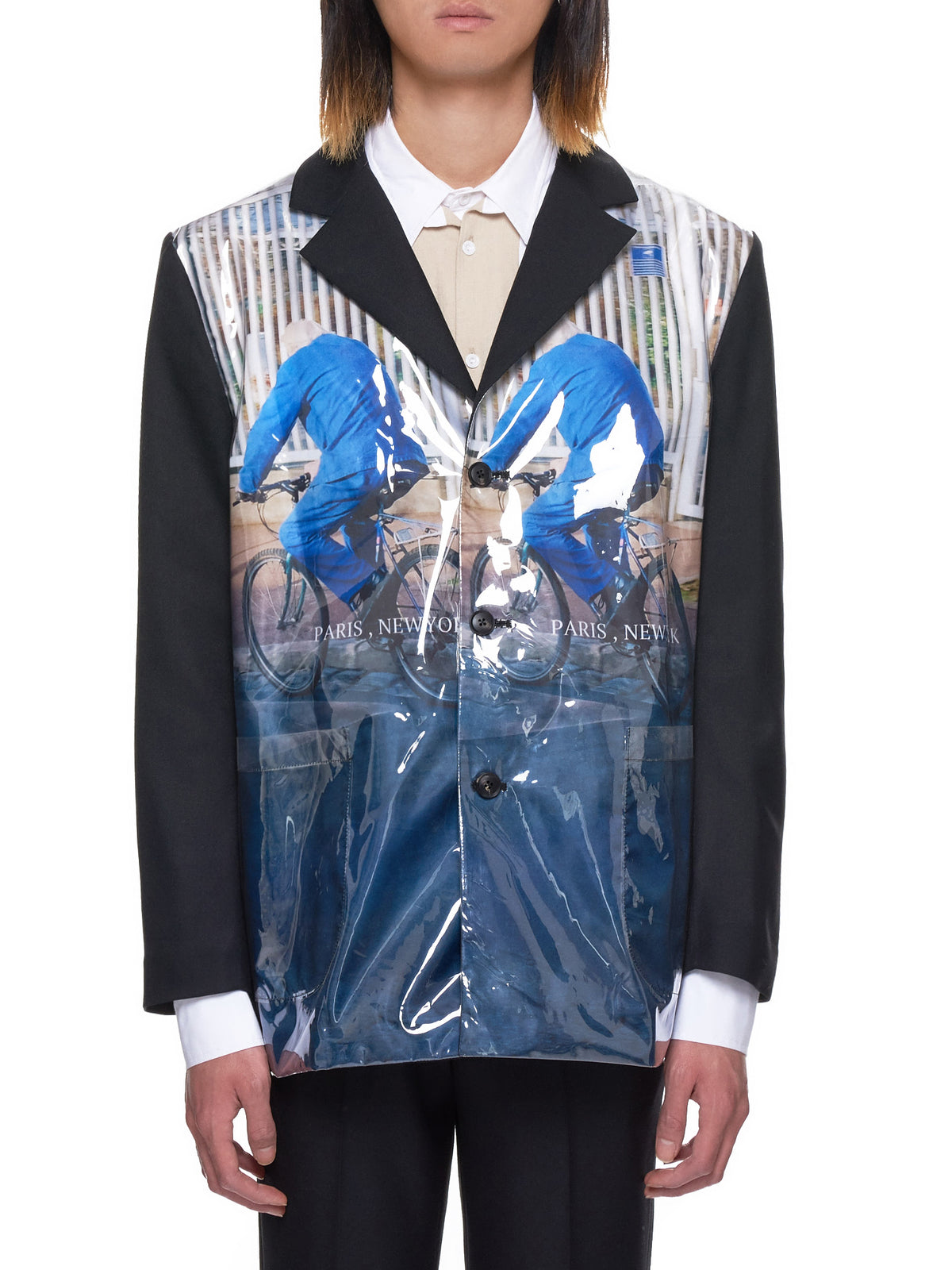 The Museum Visitor Graphic Blazer - Hlorenzo Front