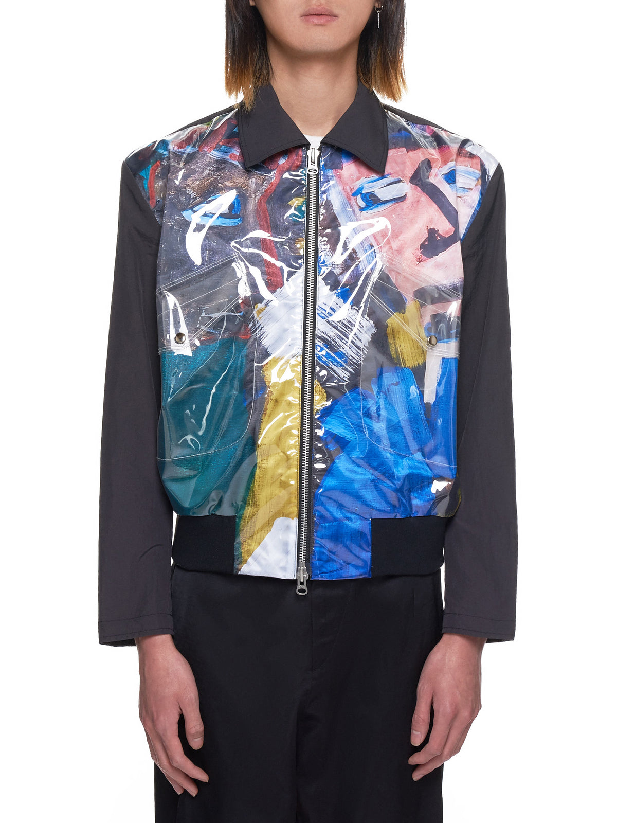 The Museum Visitor Graphic Jacket - Hlorenzo Front