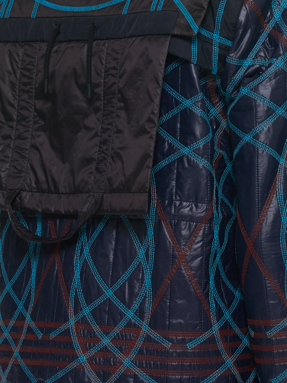 Quilted Embroidery Swirl Jacket (MWOJKT13-DARK-NAVY)