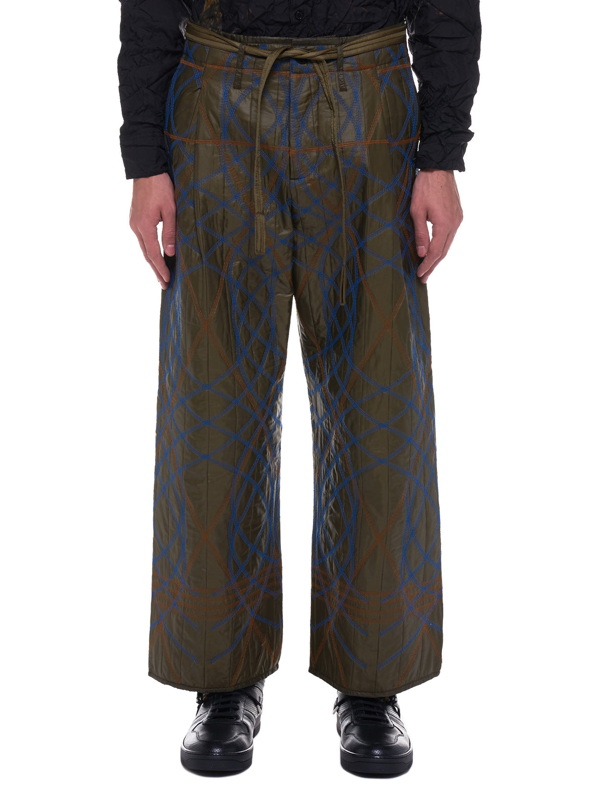 Embroidery Swirl Trousers (MWOTRS07-OLIVE)